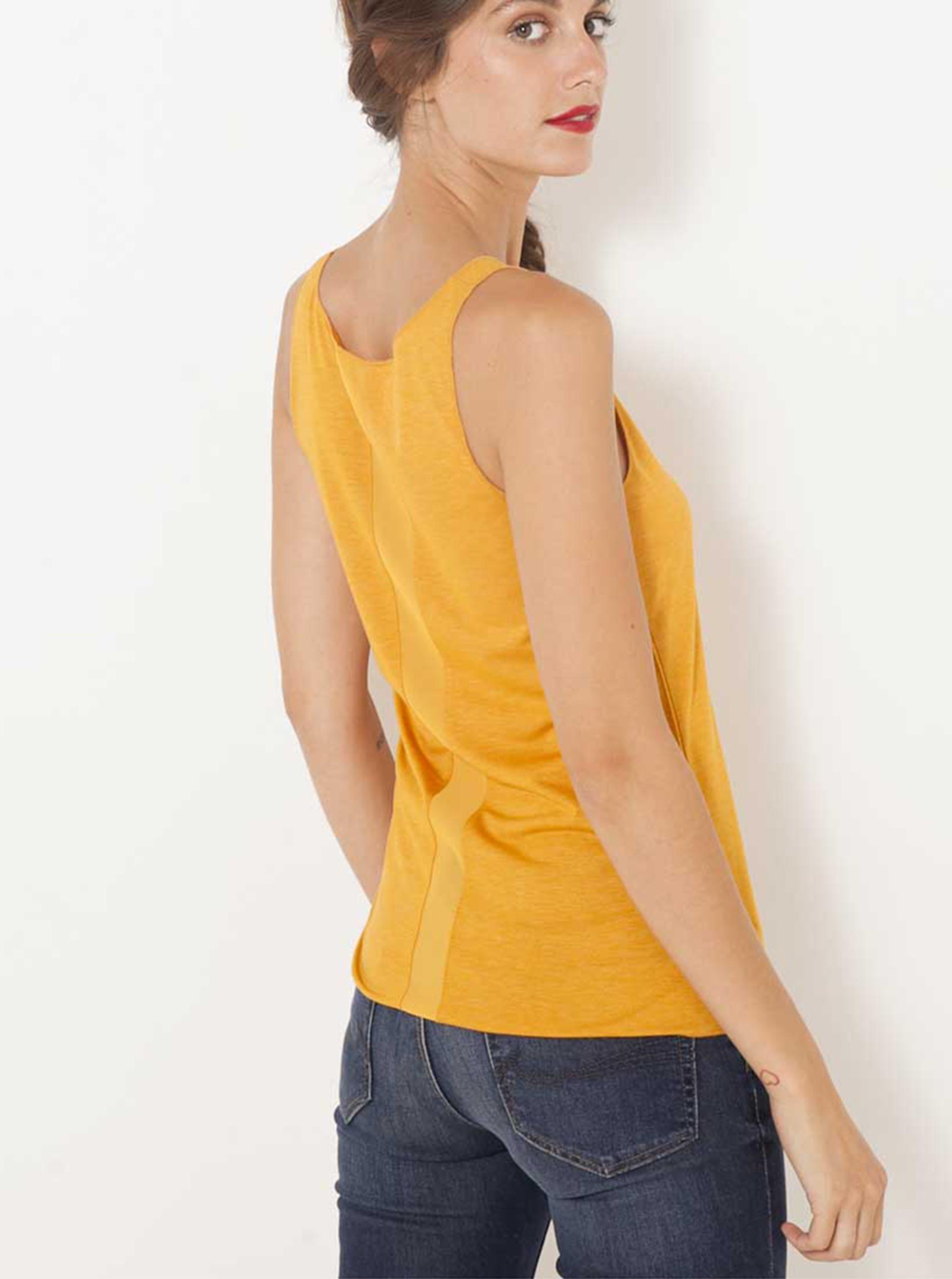 CAMAIEU Women's top orange