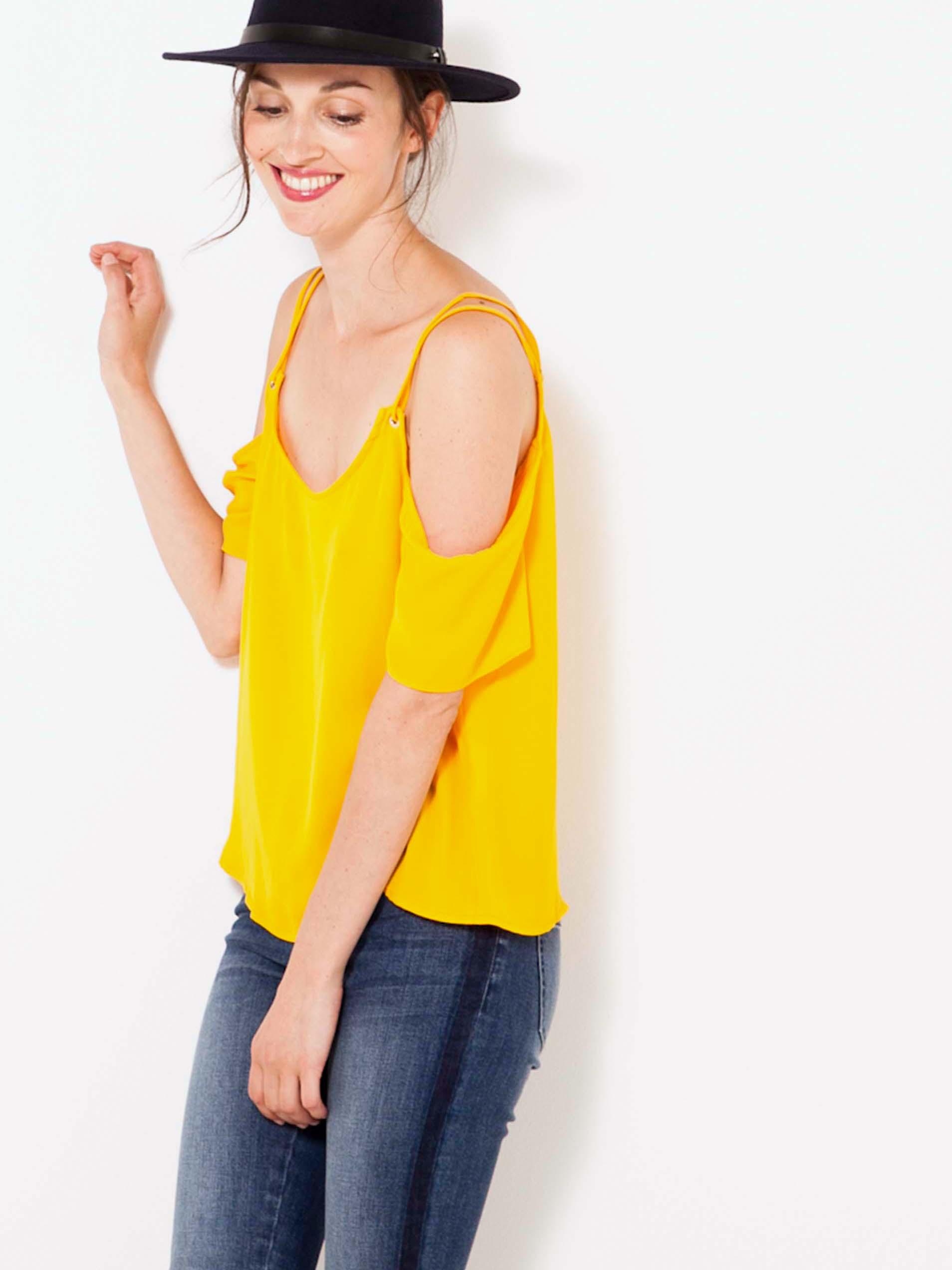 CAMAIEU Women's blouse yellow