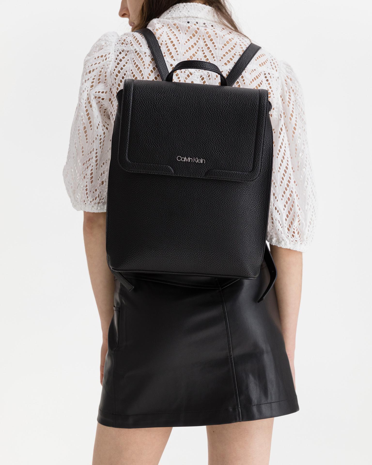 Calvin Klein black backpack Flap