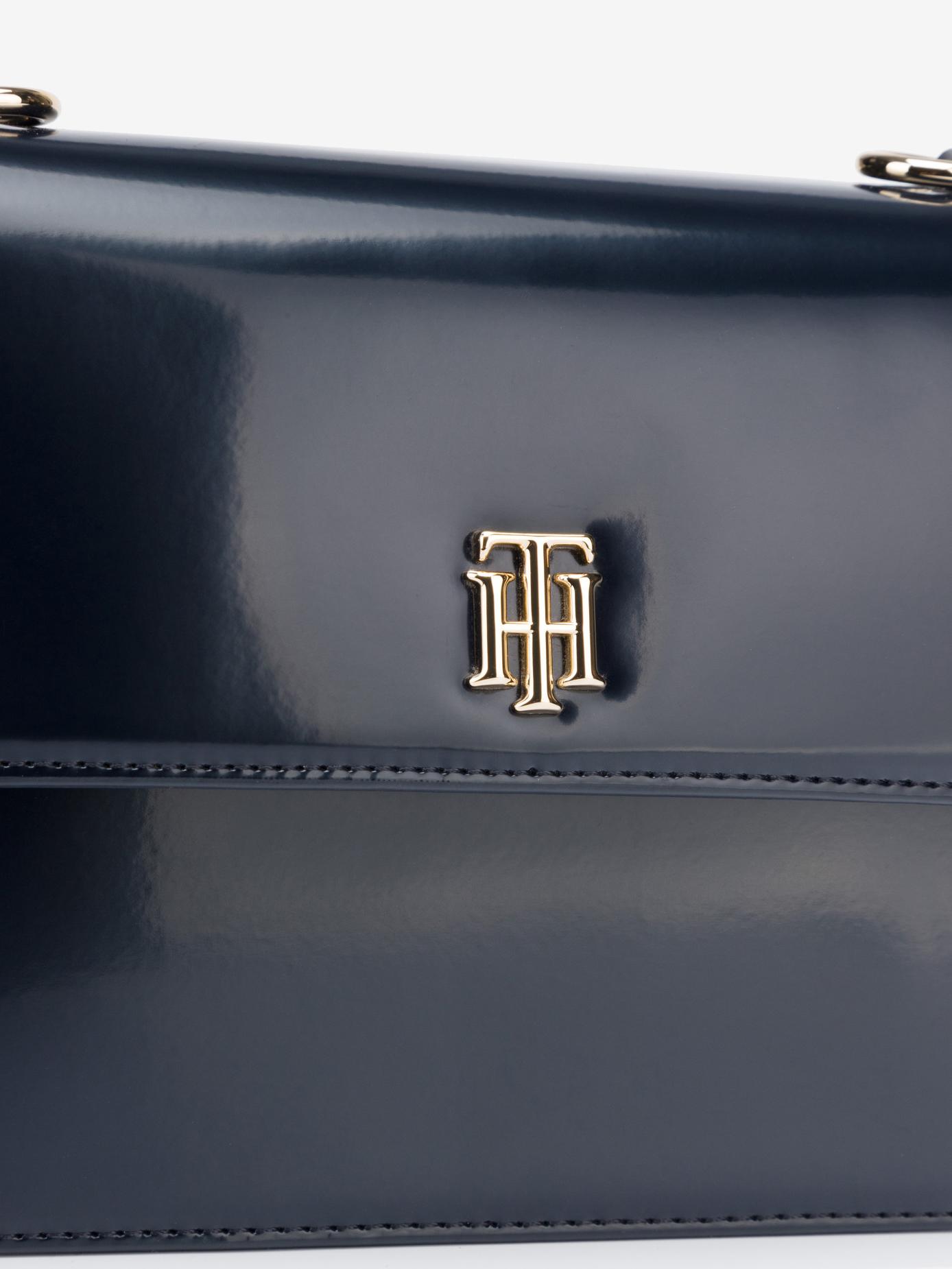 Tommy Hilfiger blue crossbody handbag Monogram Plaque