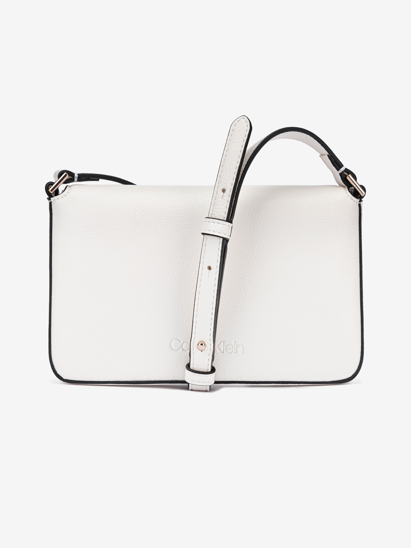 Calvin Klein white crossbody handbag Ew Flap