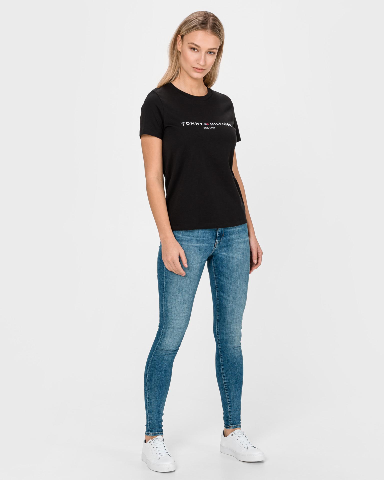 Tommy Hilfiger black women´s T-shirt Essential