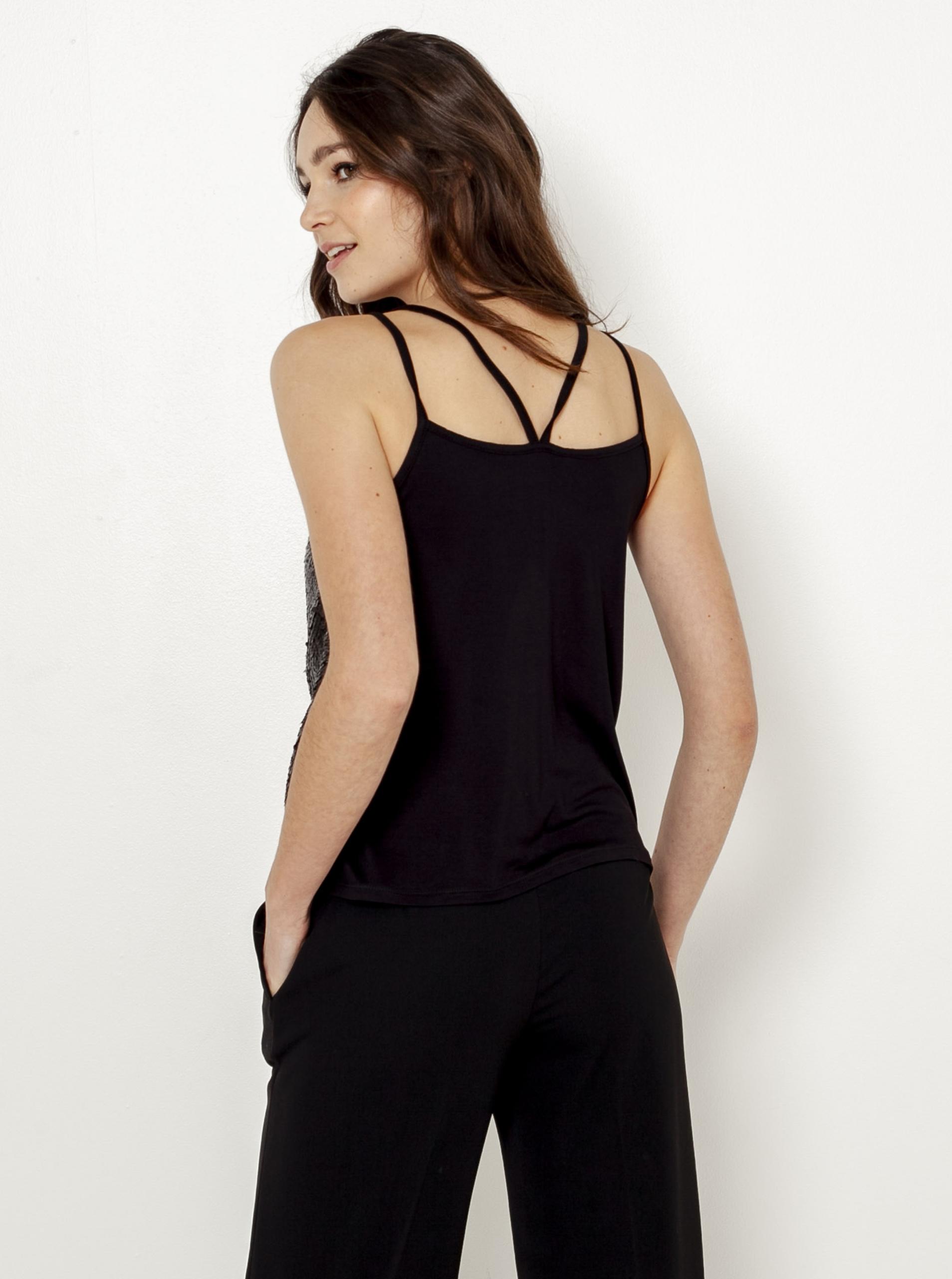 CAMAIEU black top with sequins