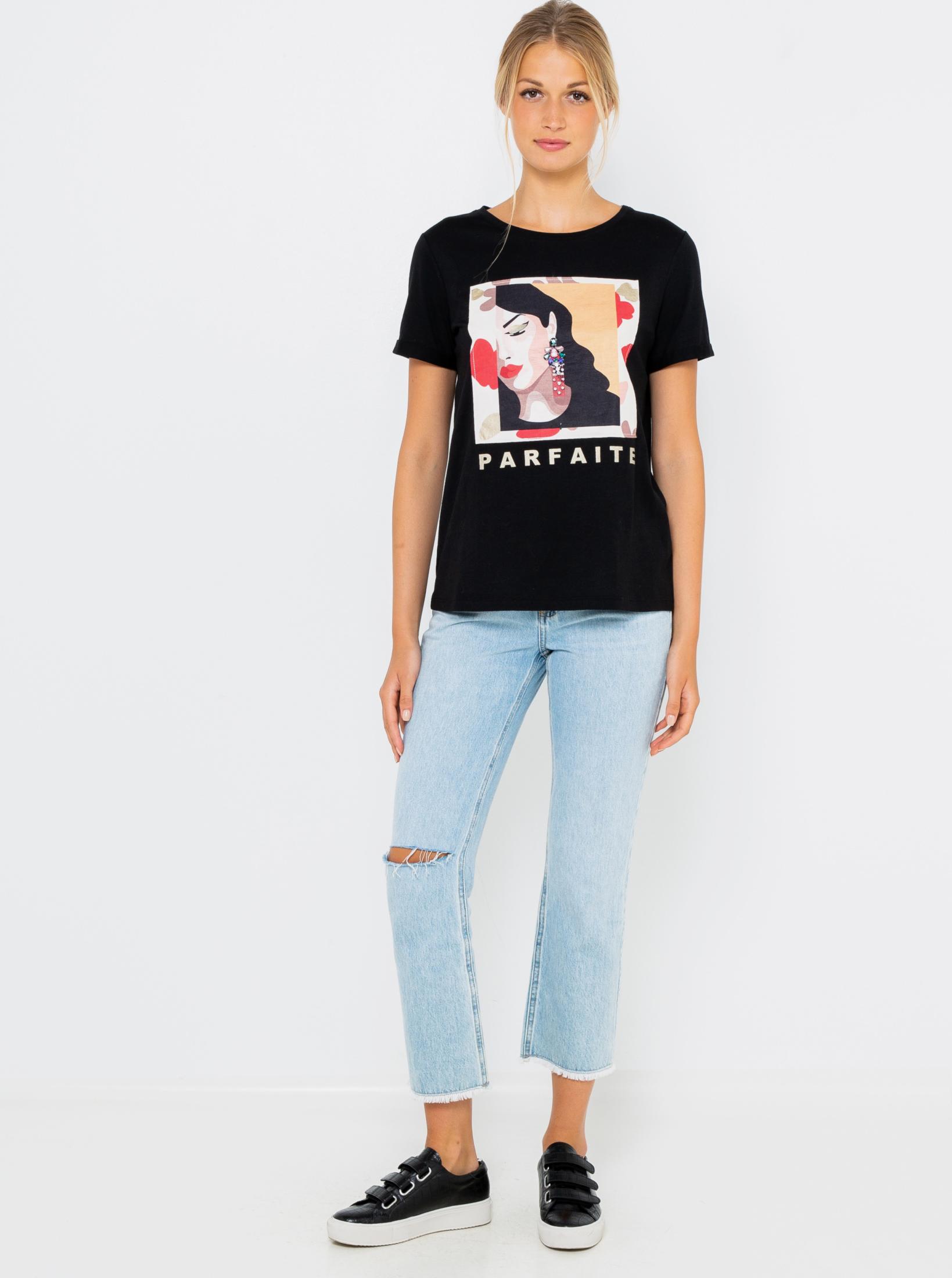 CAMAIEU Women's t-shirt black