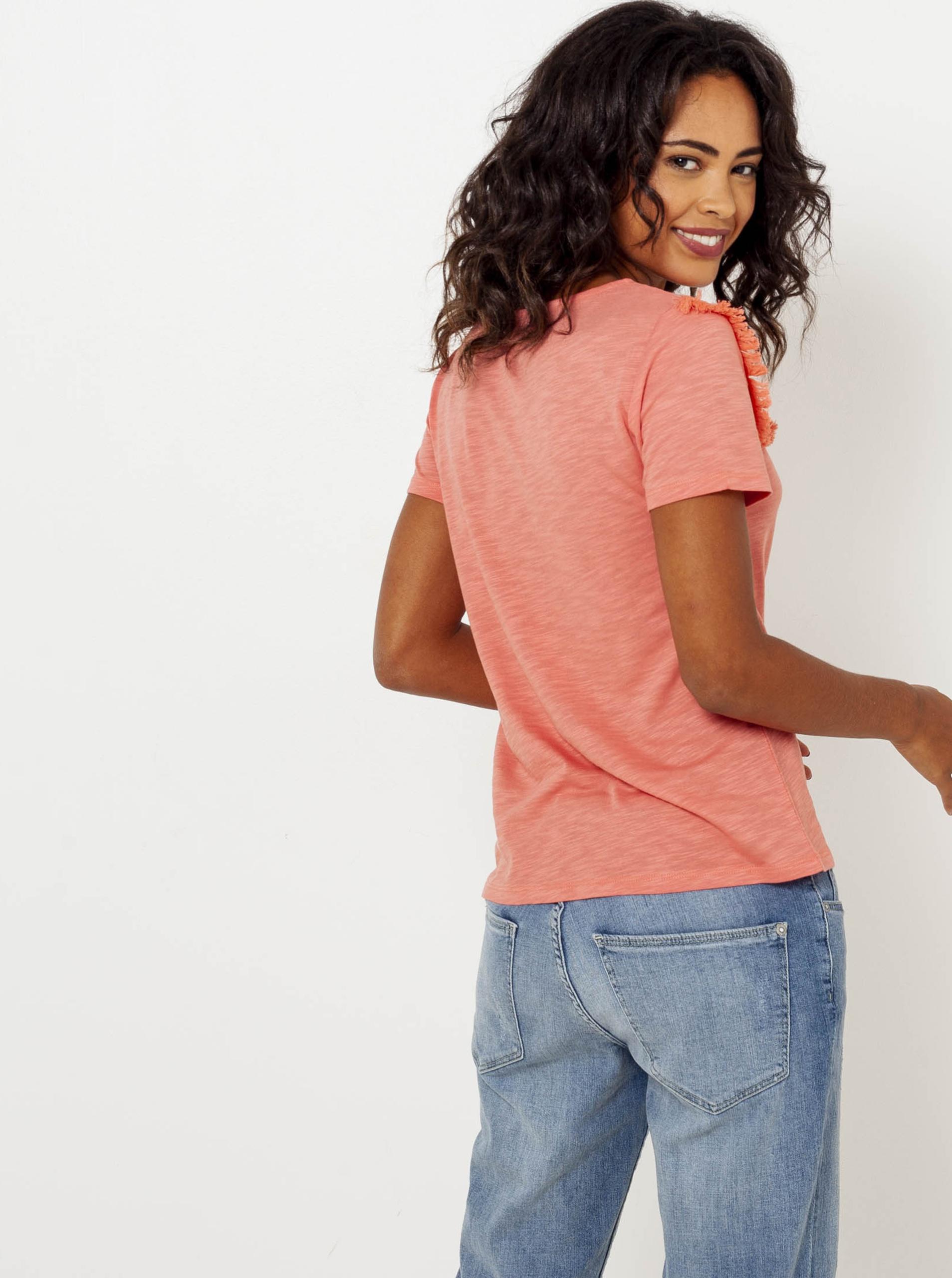 CAMAIEU orange T-shirt