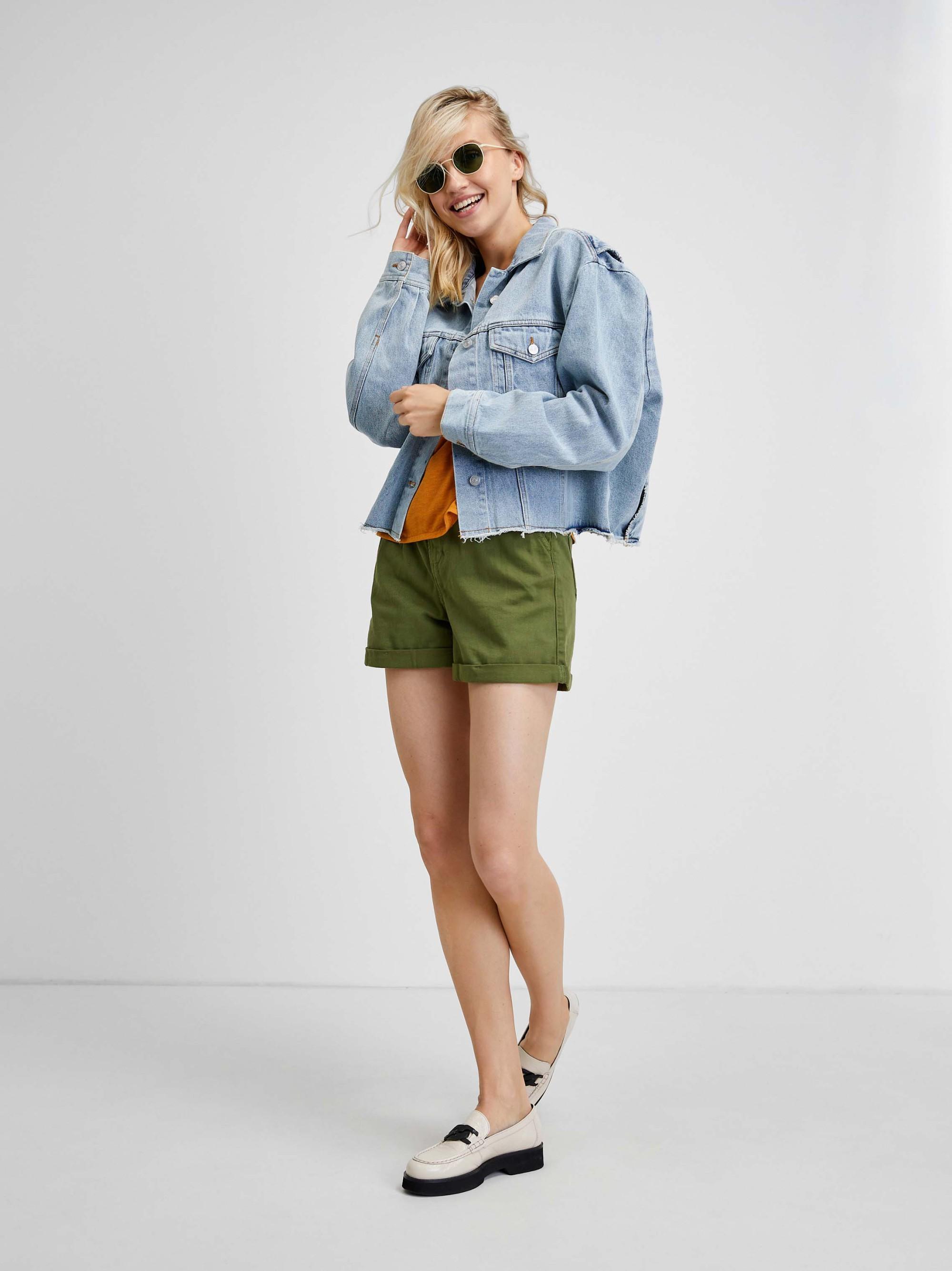 CAMAIEU Women's t-shirt green