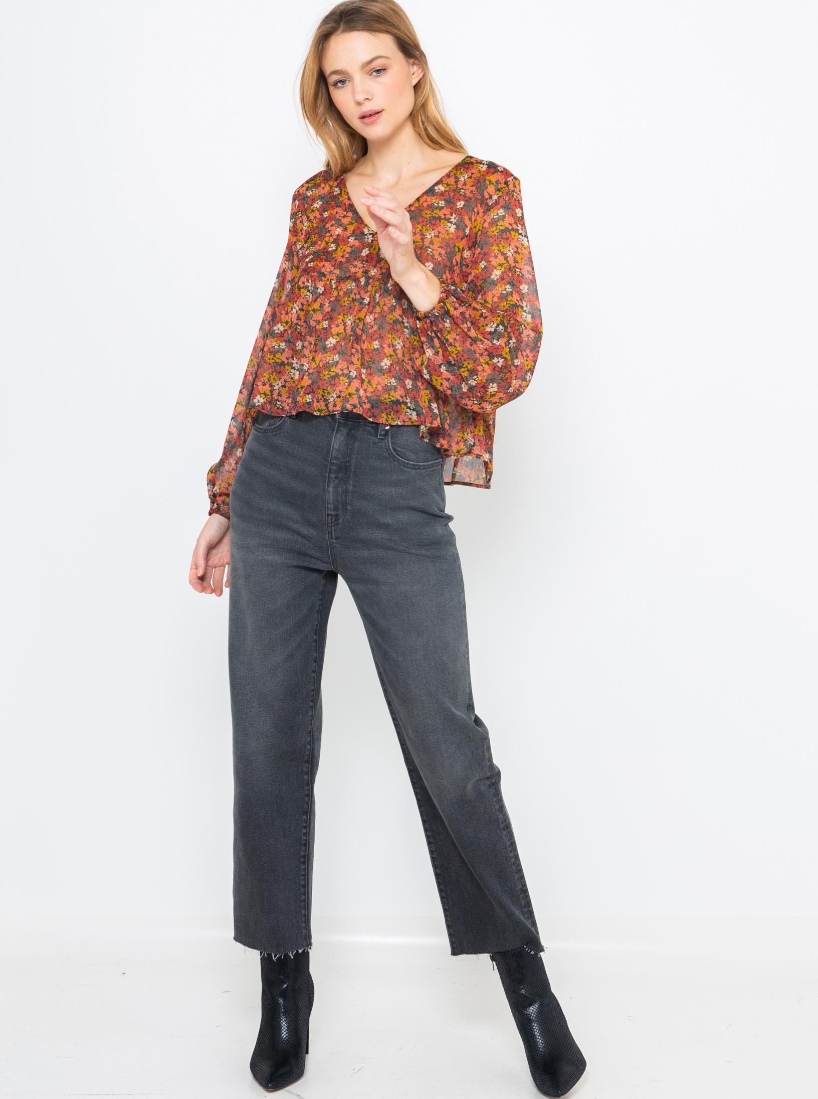 CAMAIEU blouse with floral motif