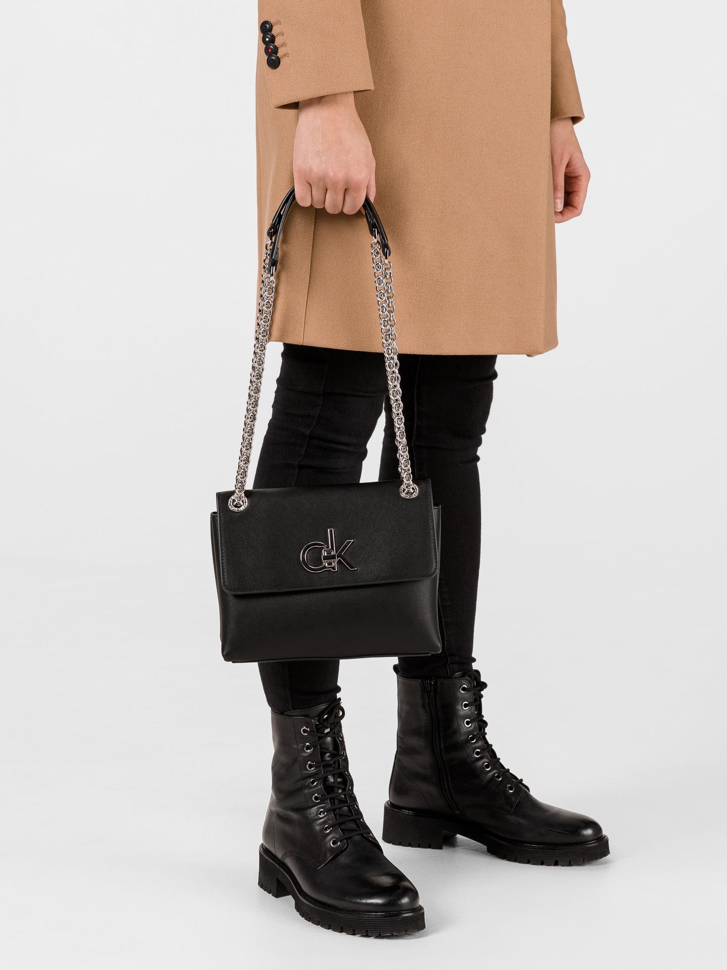 Calvin Klein black crossbody bag Ew Conv Flap
