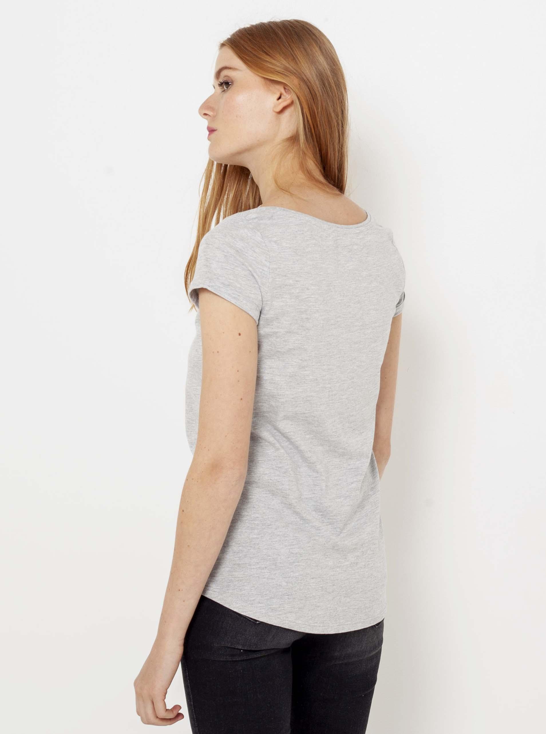 CAMAIEU grey basic brindle T-shirt