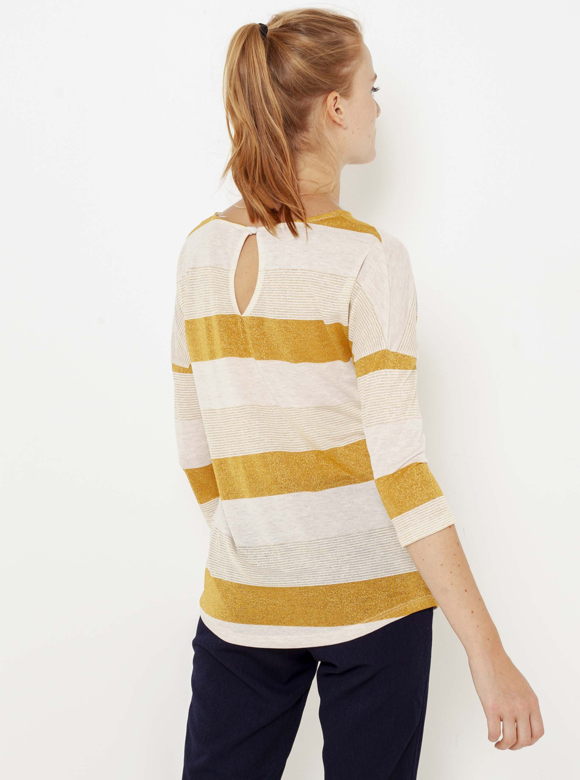 CAMAIEU Women's t-shirt creamy