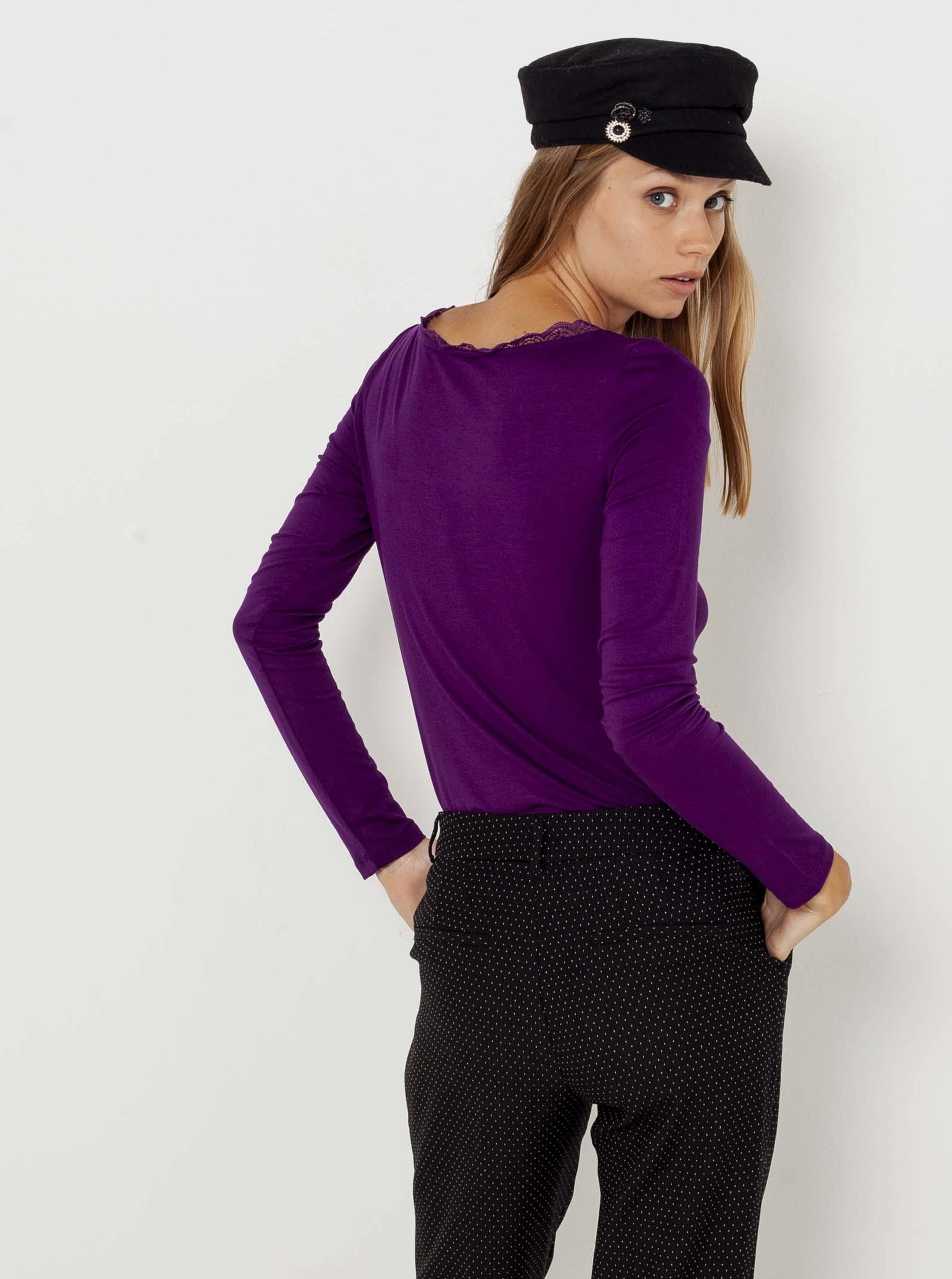 CAMAIEU Women's t-shirt violet