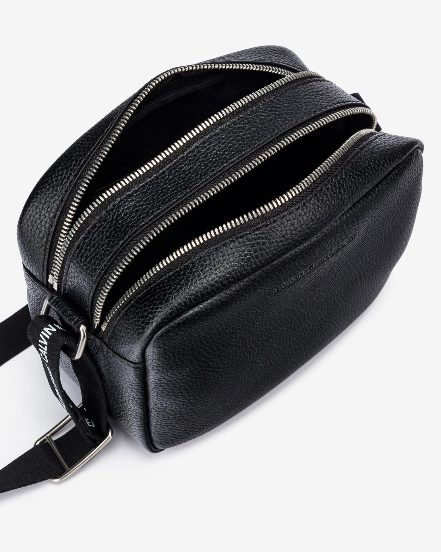 Calvin Klein black crossbody bag Double Zip Camera