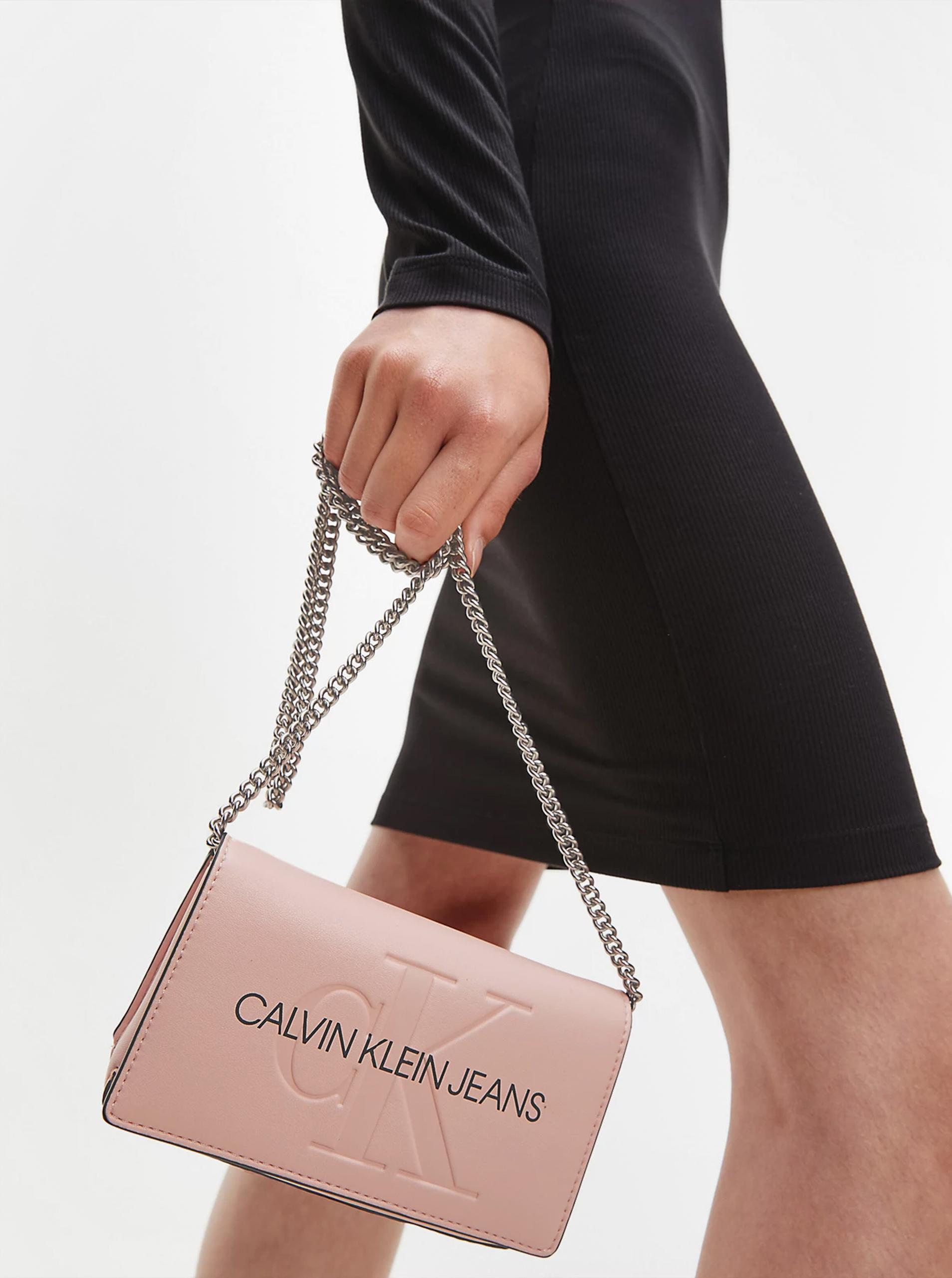 Calvin Klein pink crossbody handbag