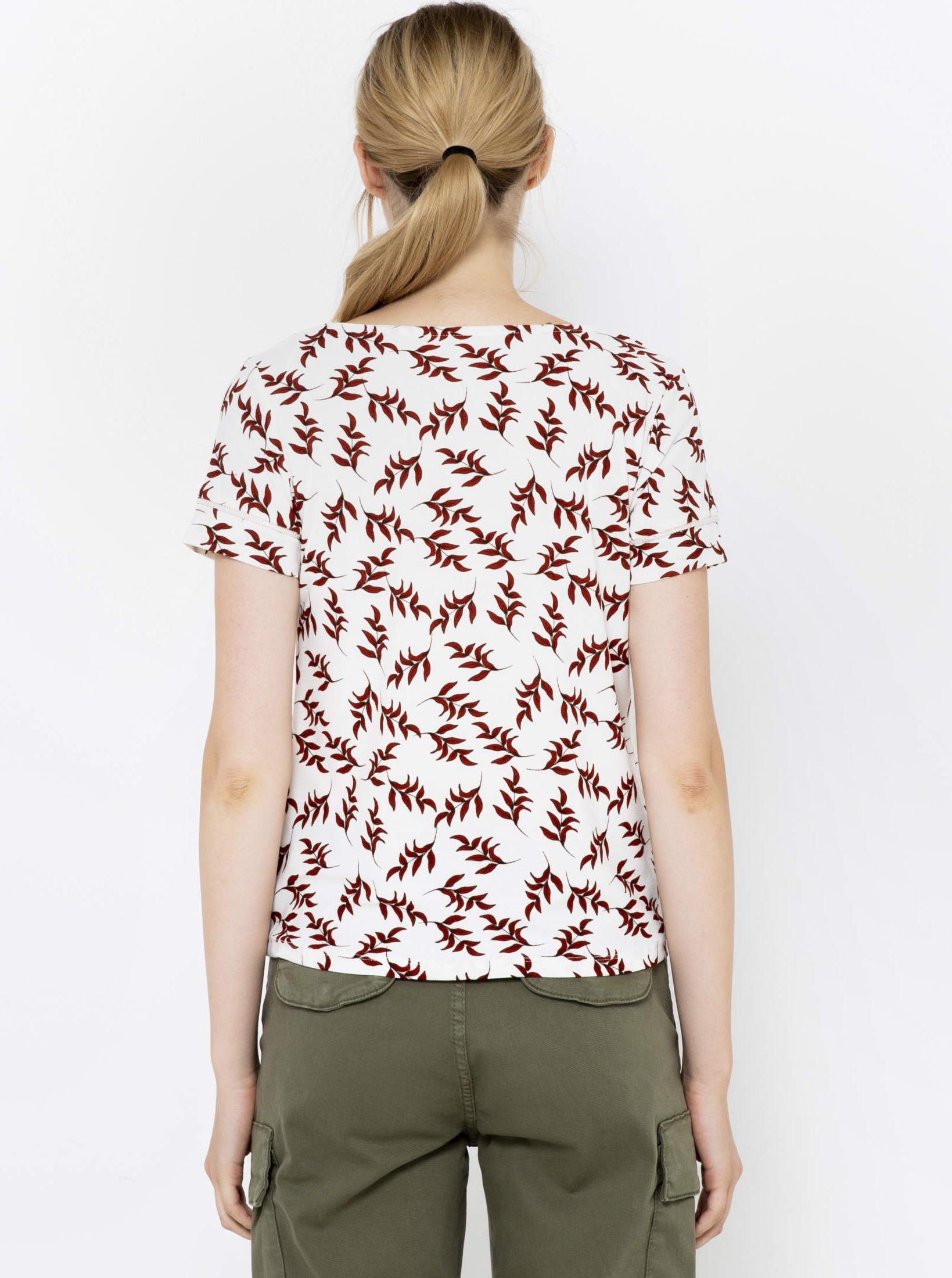 CAMAIEU white T-shirt with pattern