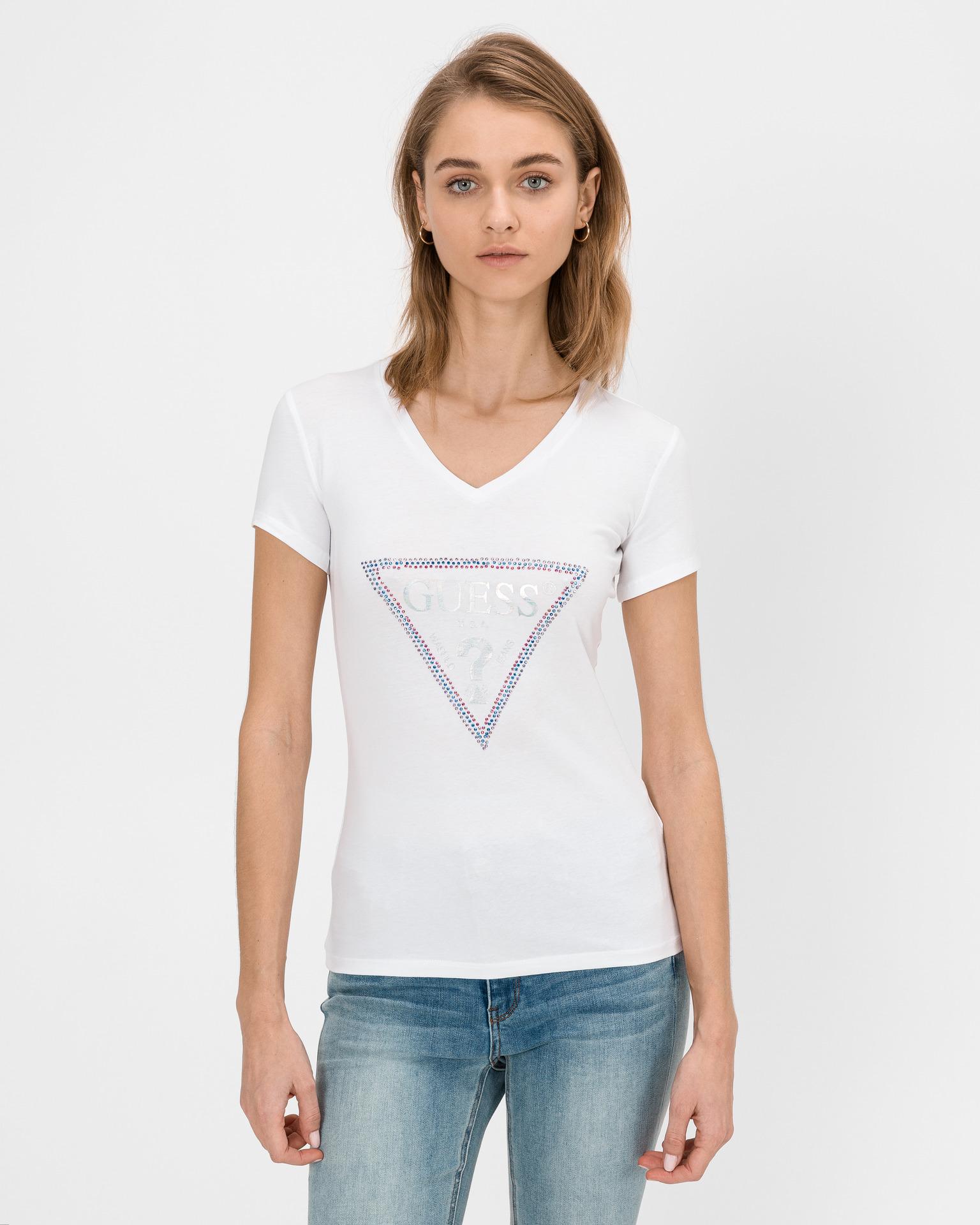 Guess Women's t-shirt white Triko