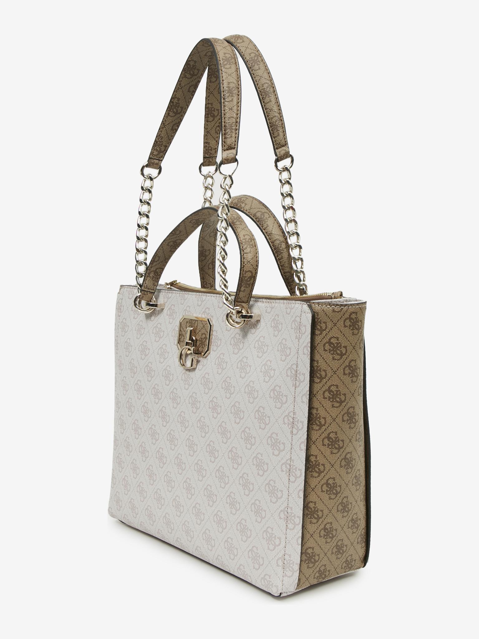 Guess white handbag Alisa Society
