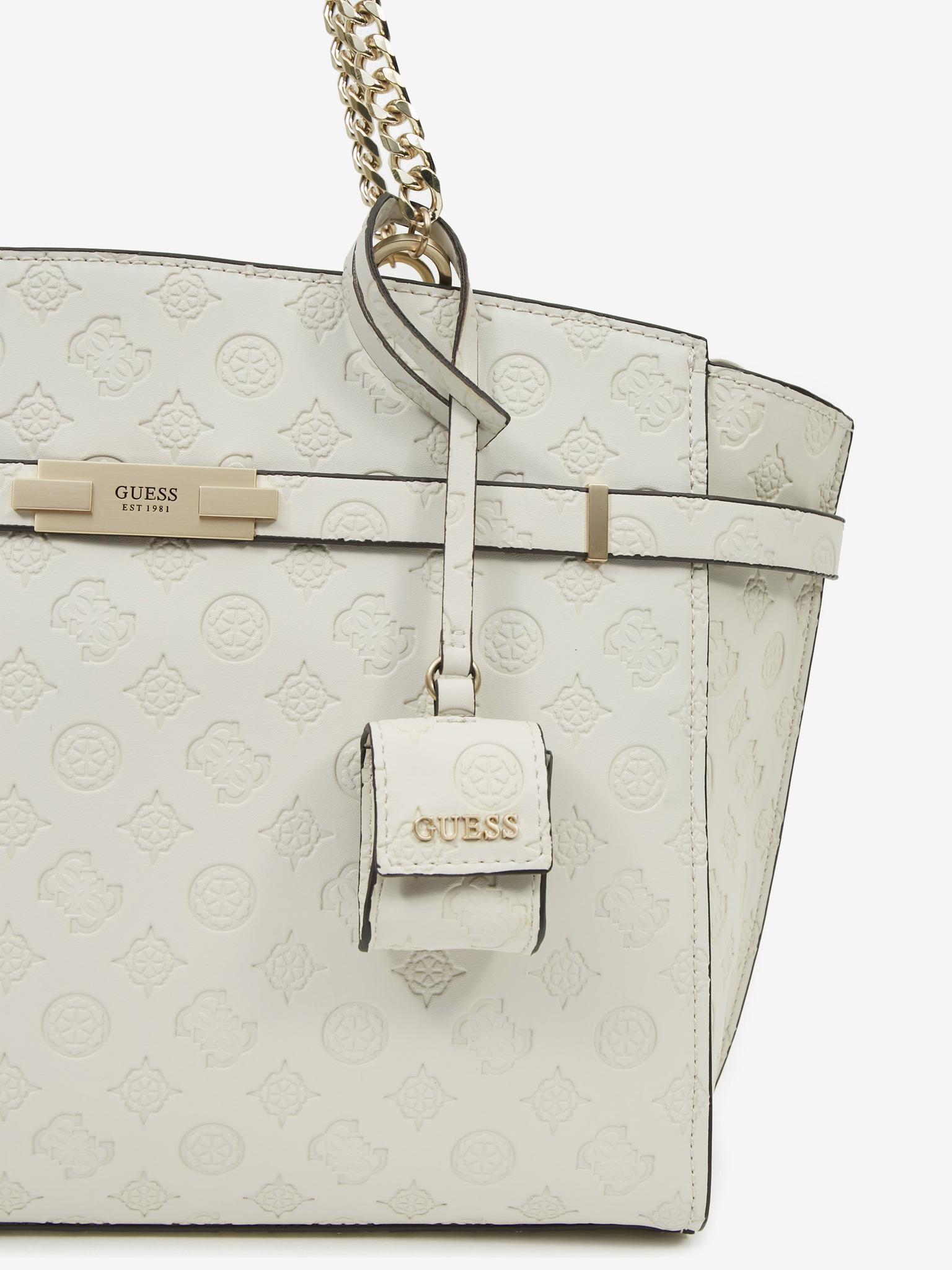 Guess white handbag Bea Elite