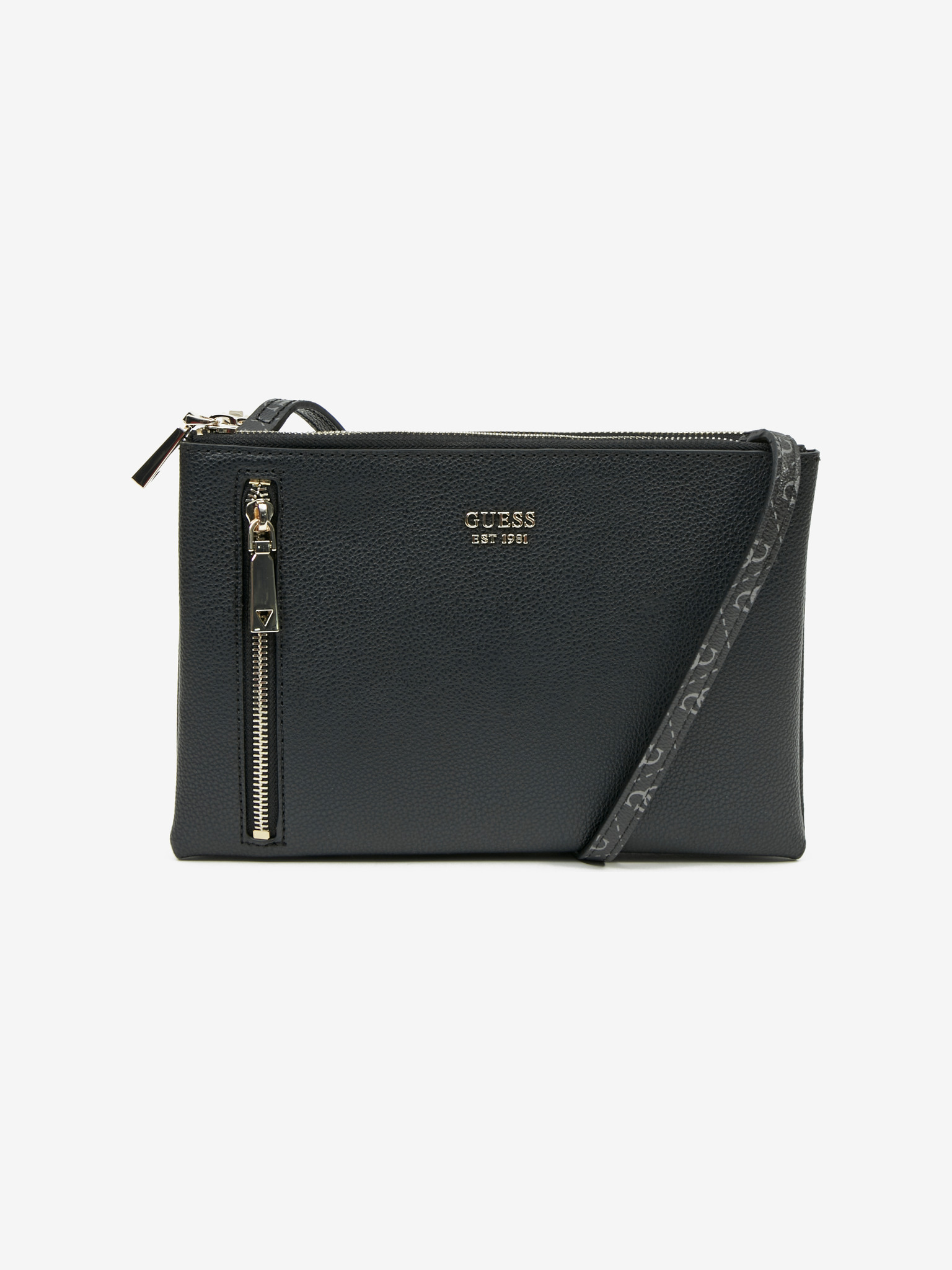 Guess black crossbody handbag Naya Double