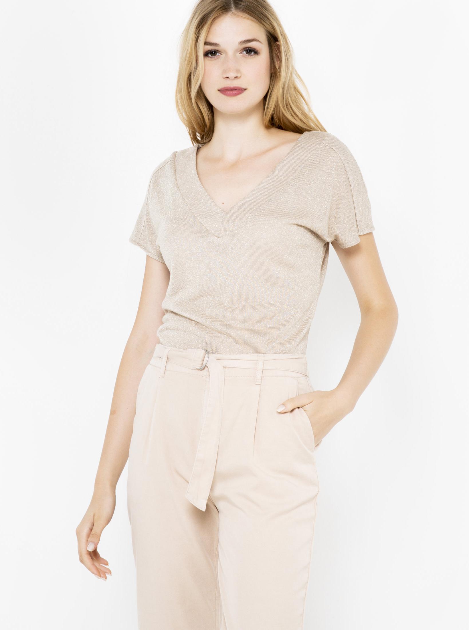 CAMAIEU Women's t-shirt beige