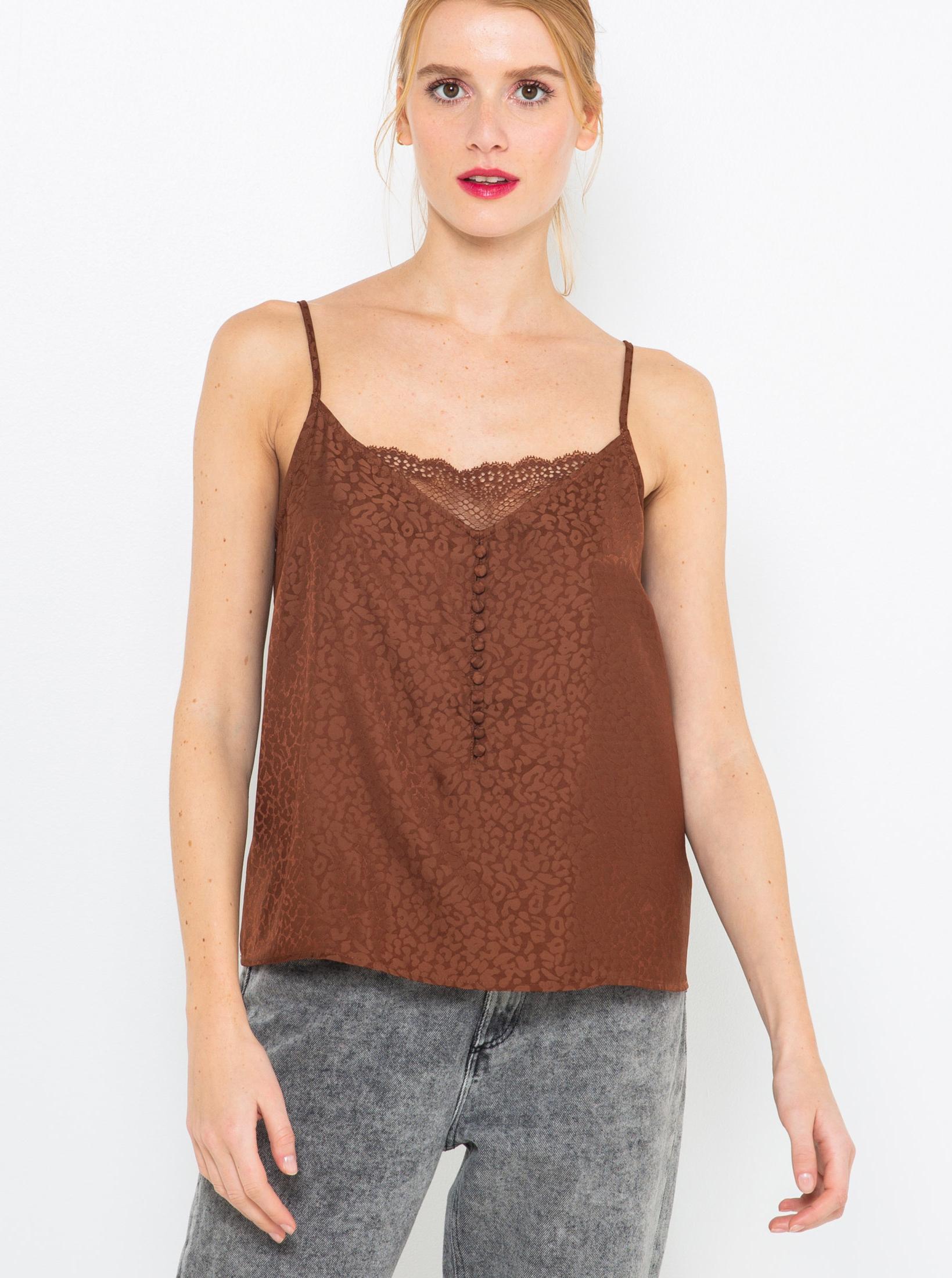 CAMAIEU Women's top brown