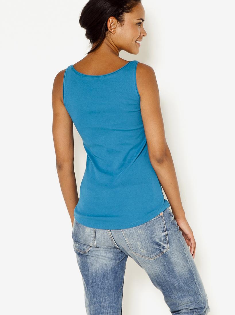 CAMAIEU Women's top blue