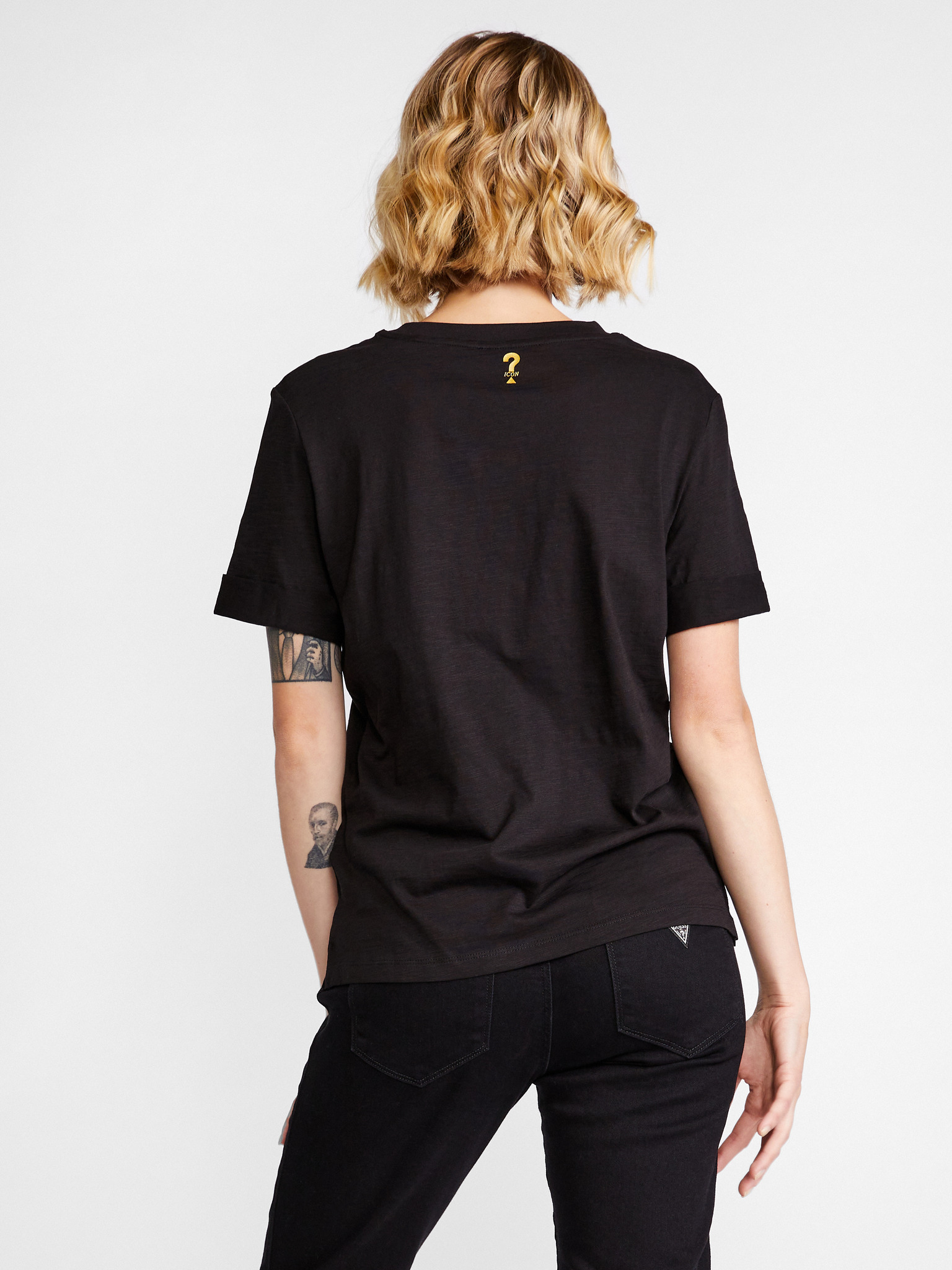 Guess Women's t-shirt black Triko