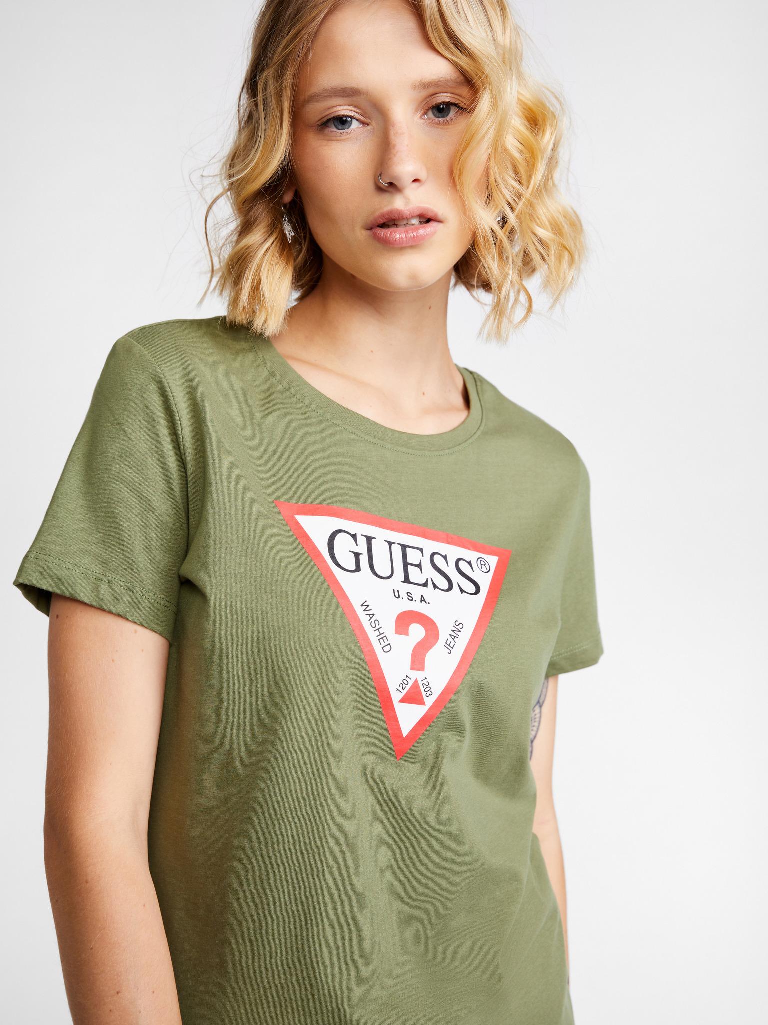 Guess Women's t-shirt green Triko