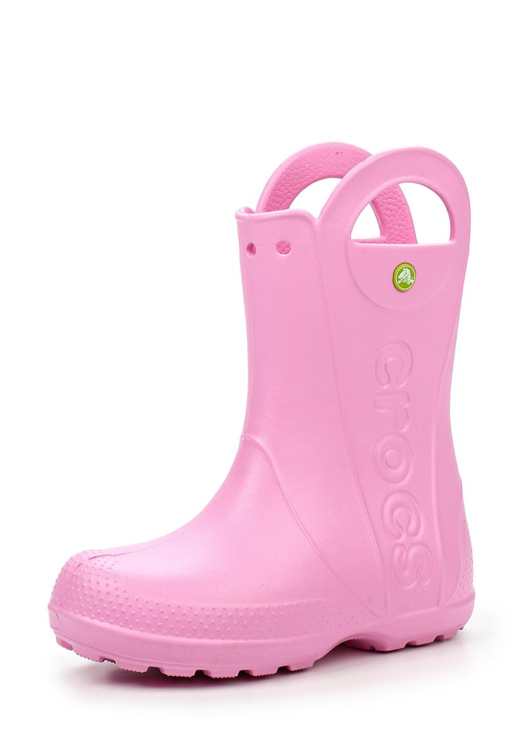 416d672d75aa Crocs Light Pink Baby Boots Handle It Rain Boot Kids Carnation ...