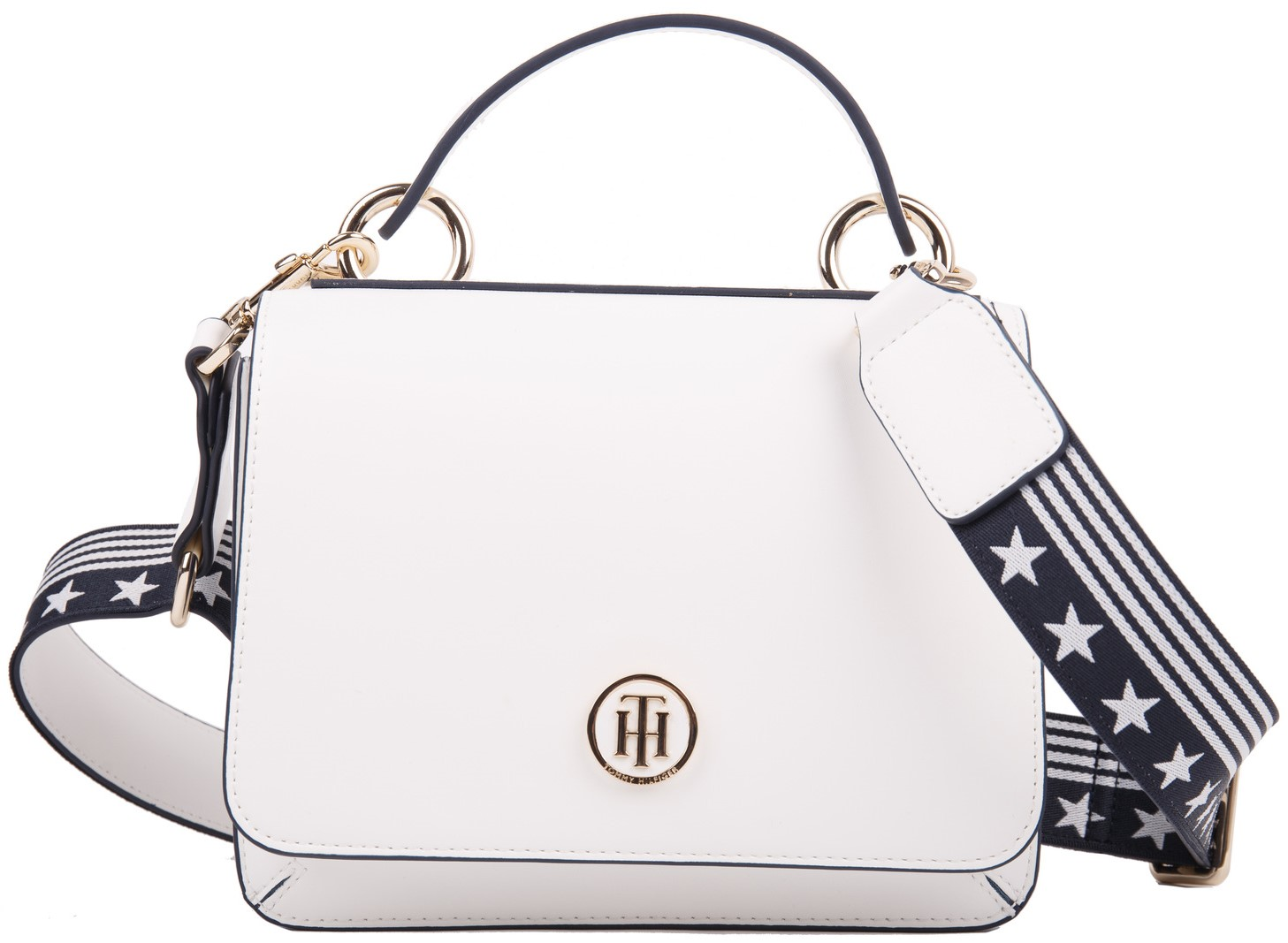 8a17e3bf Tommy Hilfiger white handbag Youthful Heritage Flap Crossover ...