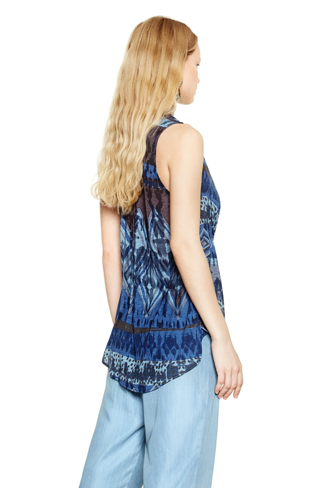 save up to 80% pretty cool cheap Desigual blue atypical top Gautier