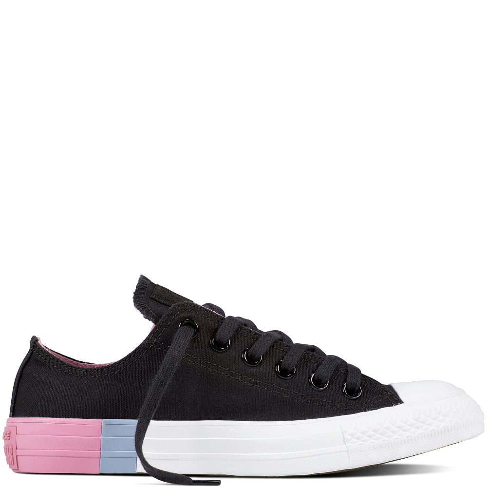 Converse Black Chuck Taylor Sneakers All Star CTX OX Black Light Orchid White