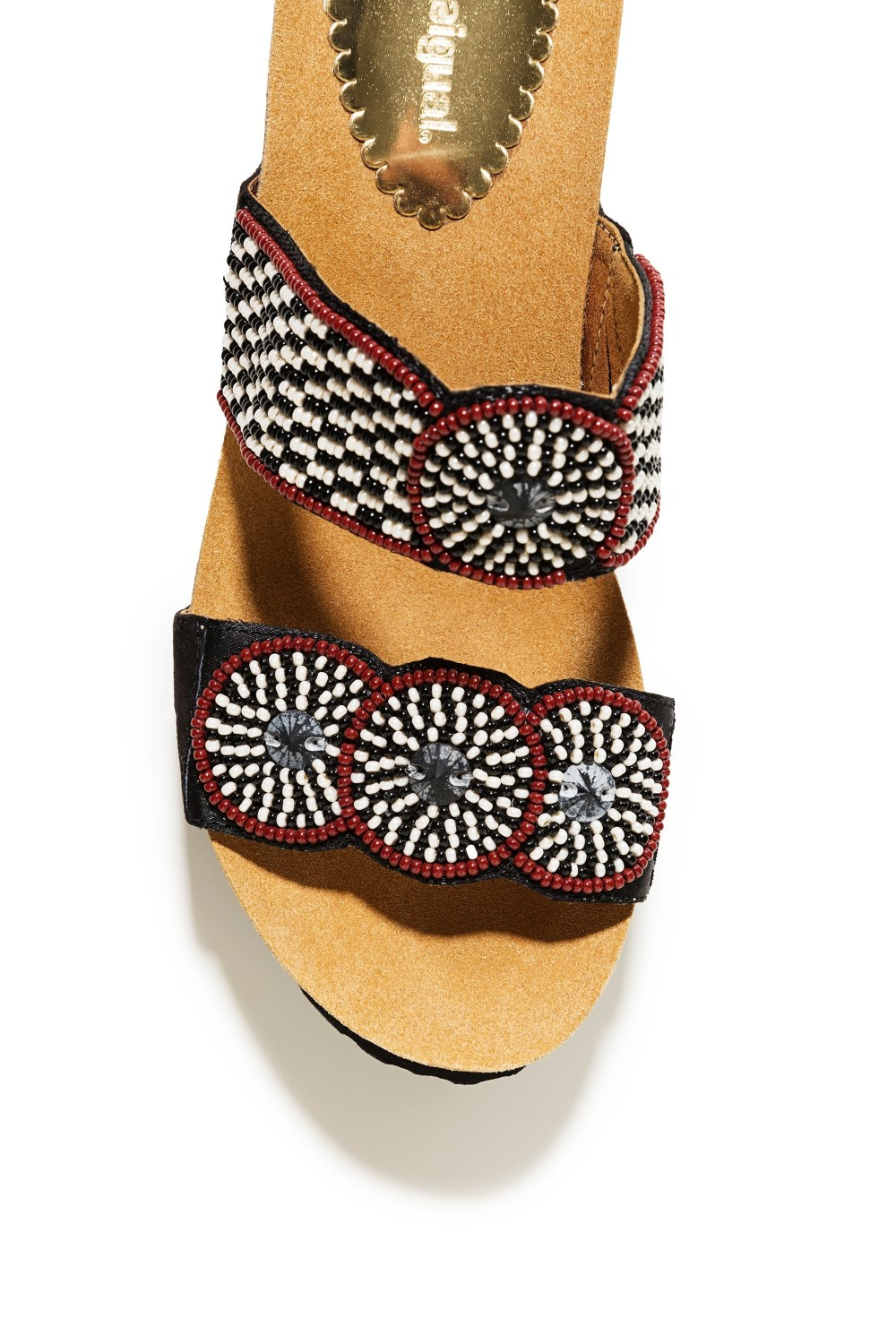 5602c4441a Desigual black slippers on the Cycle Africa BN platform