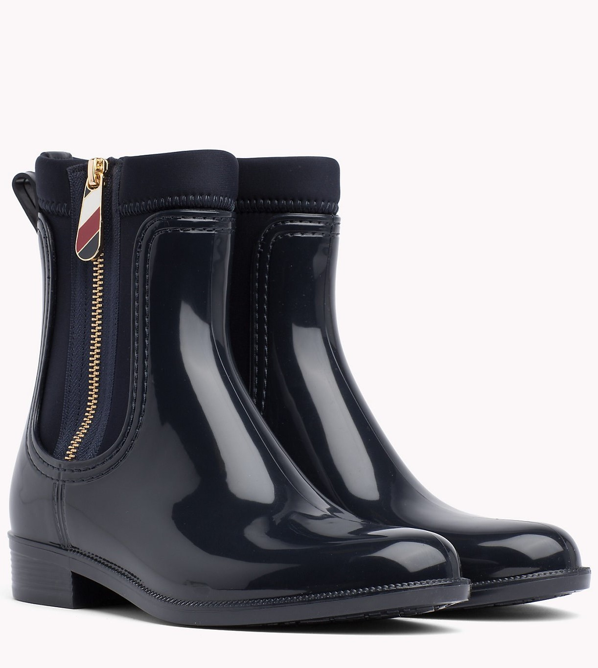 7a9942e2b753 Tommy Hilfiger Dark Blue Boots Material Mix Rain Boot - Women´s ...