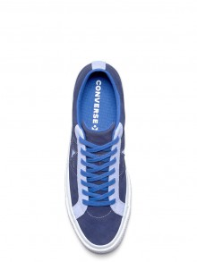 Converse blue leather unisex sneakers