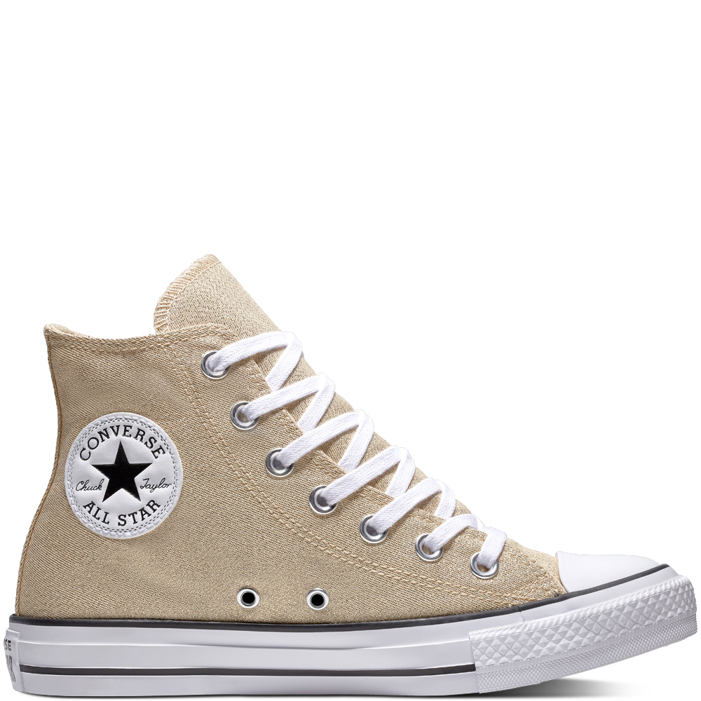 bc32a6c46c60b0 Converse Gold Chuck Taylor All Star Hi Light Twine   White   Black ...