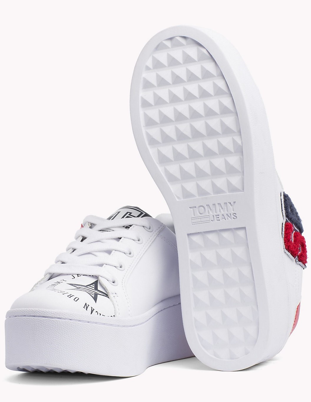 Tommy Hilfiger white leather sneakers on the TJ85 platform Icon Sneaker 18c90414966