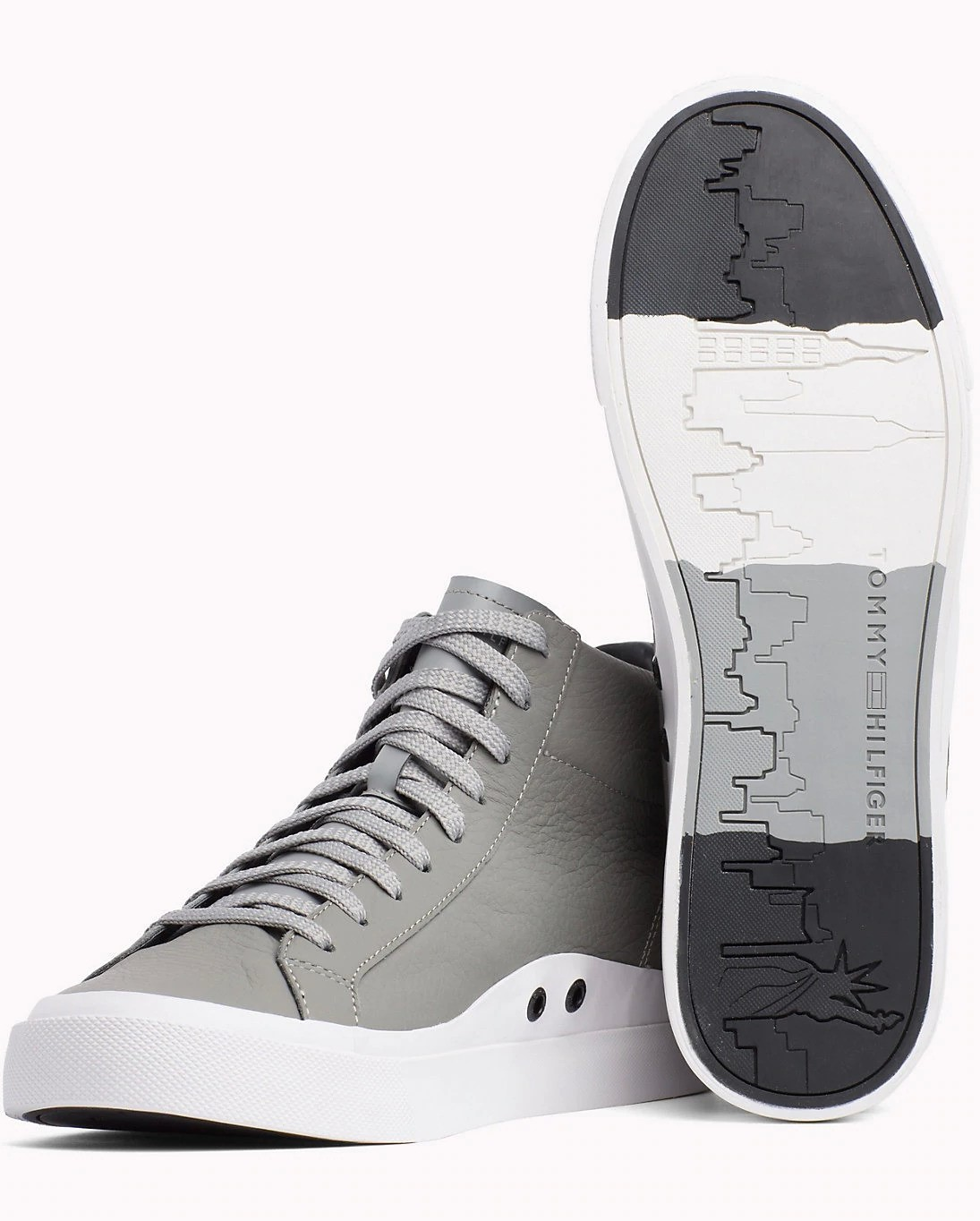 Tommy Hilfiger Gray Leather Unisex