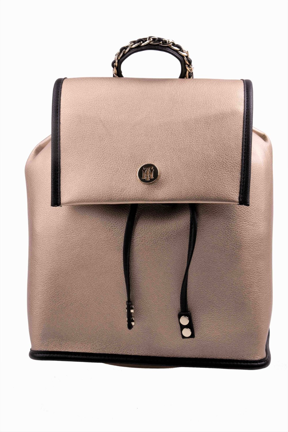 Tommy Hilfiger gold backpack Tommy Chain Backpack - Women s Handbags ... a89fd007d61