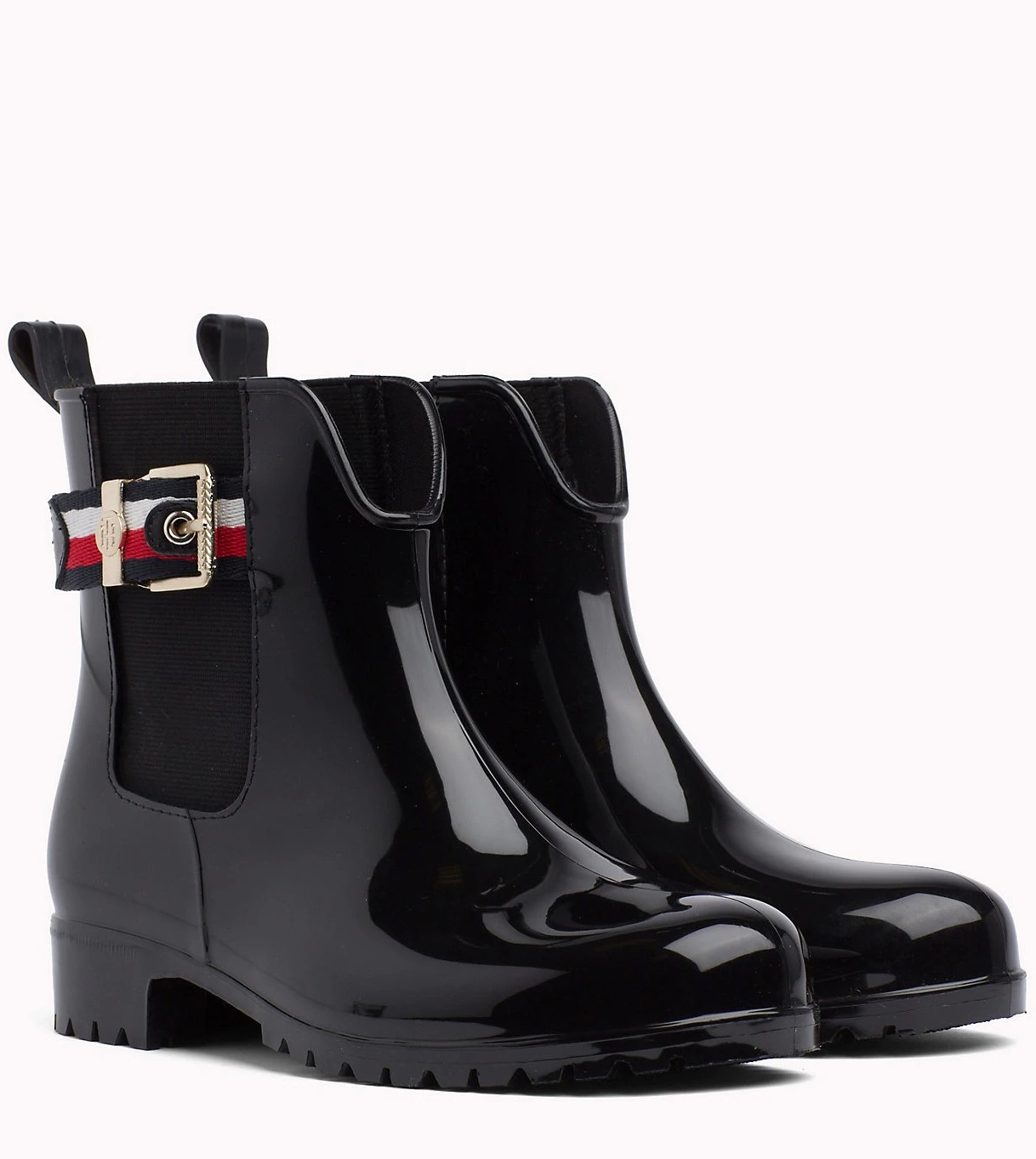 Tommy Hilfiger black boots Corporate