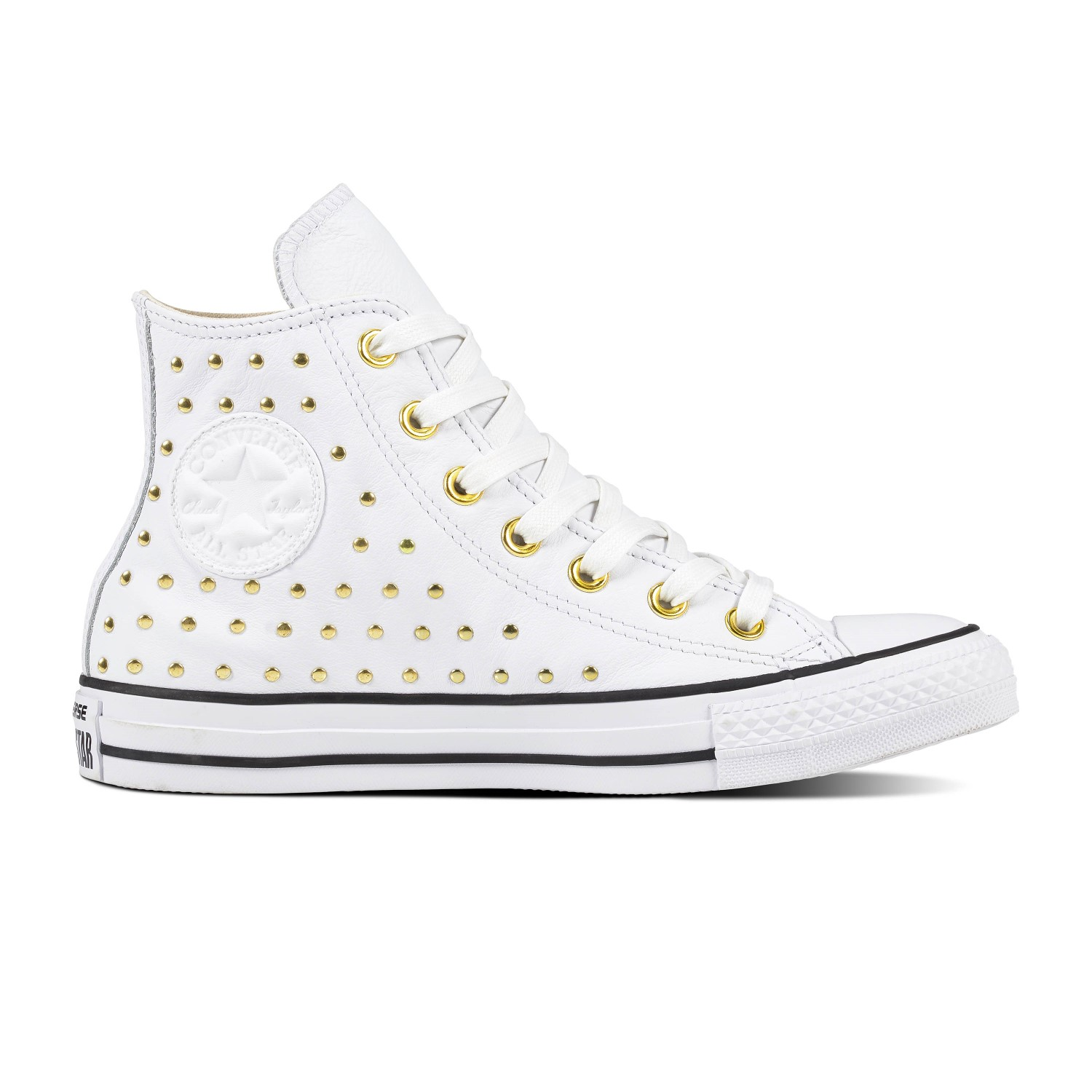 Converse white ankle boots with Chuck