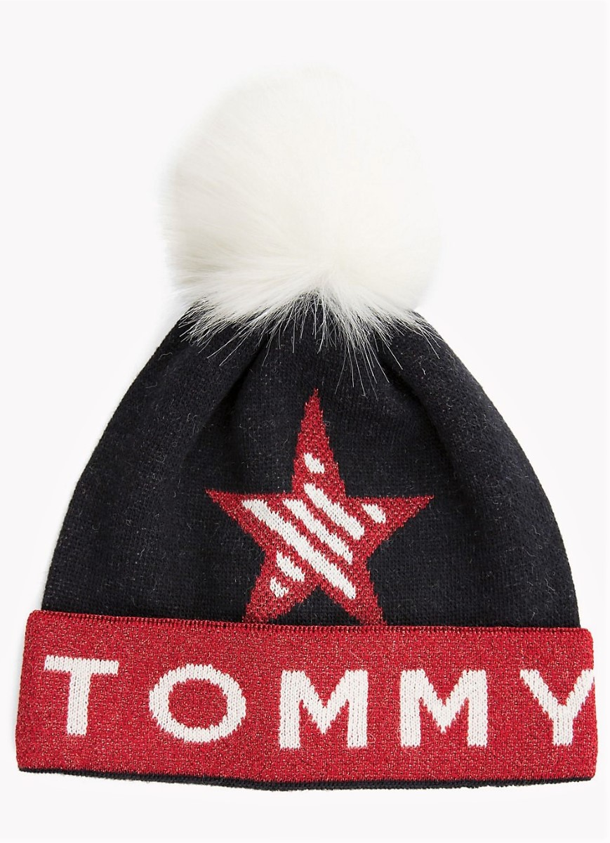 c28cf54d2 Tommy Hilfiger winter hat with Trikolora TJW Corporate Beanie - Caps ...