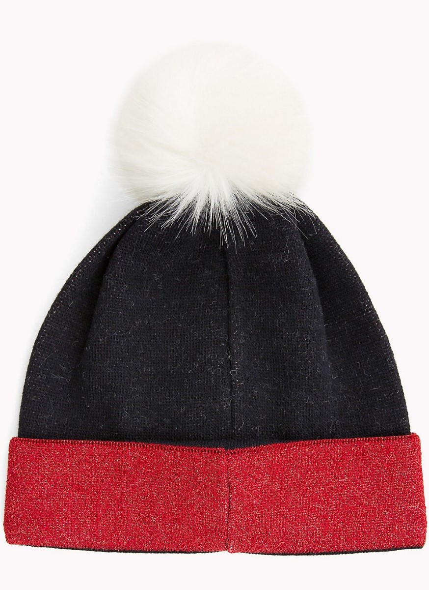 d5bf624e3e2188 Tommy Hilfiger winter hat with Trikolora TJW Corporate Beanie - Caps ...