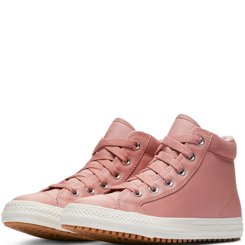 01113b0e9ab Converse Pink Leather Boots Chuck Taylor All Star PC Boot Hi Rust Pink