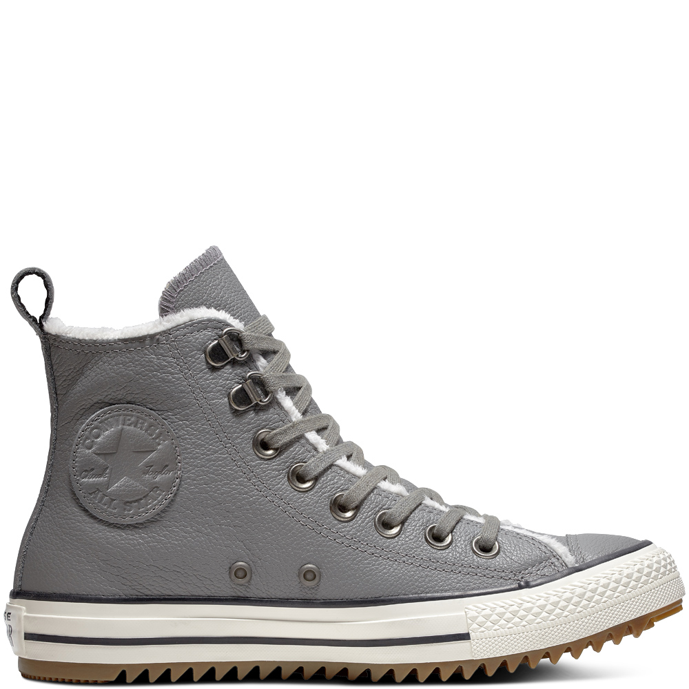 89bfcee678b632 Converse Gray Unisex Winter Sneakers Chuck Taylor All Star Hiker Boot Hi  Mason