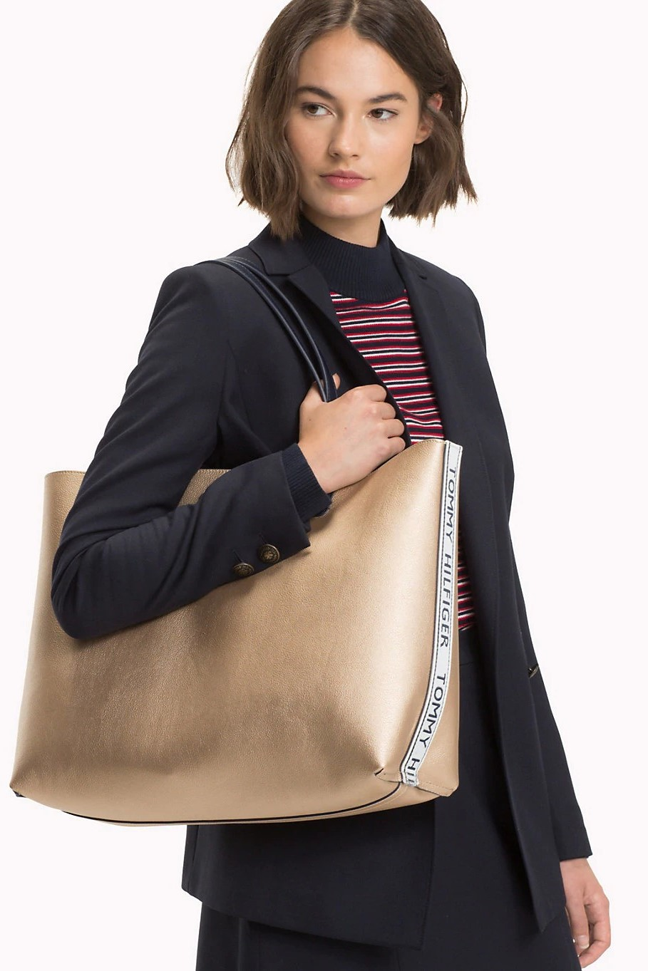 Tommy Hilfiger double-sided Iconic Tommy Tote handbag - Women s ... b71a4579c00