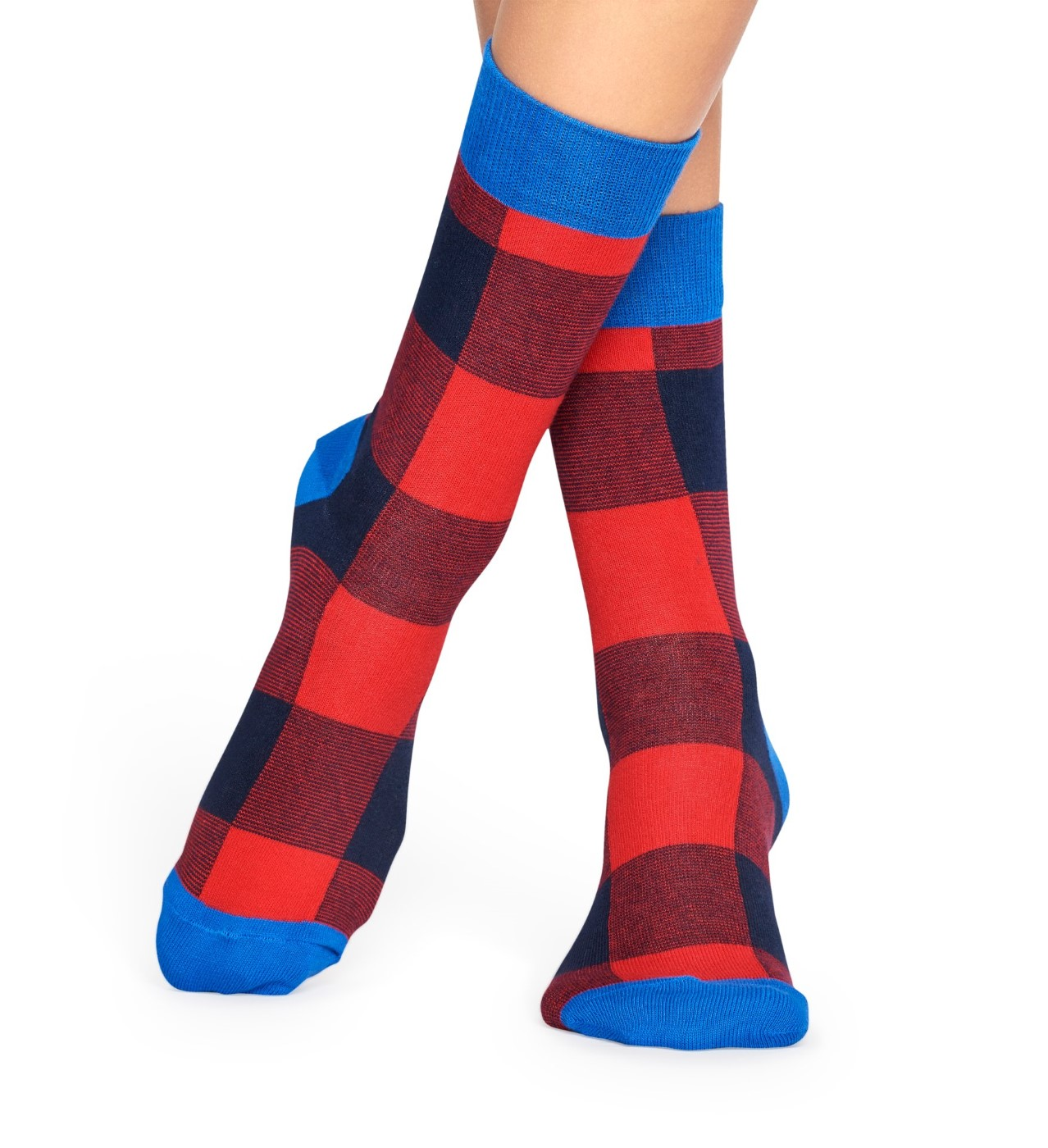 Happy Sock red-blue socks Lumberjack