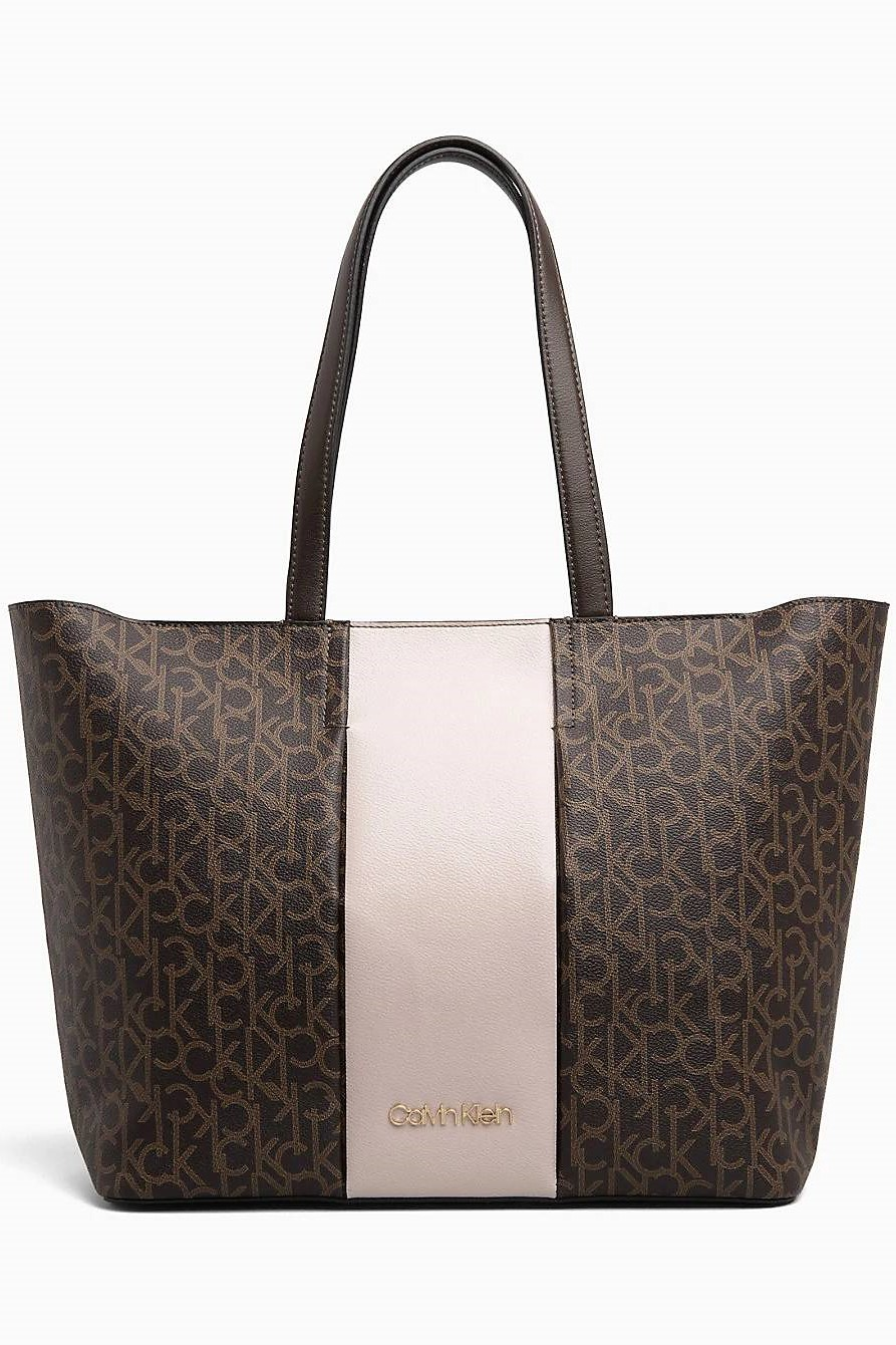 81d0d58b97f30 Calvin Klein Brown Mono Block Shopper - Women's Handbags, Bags ...