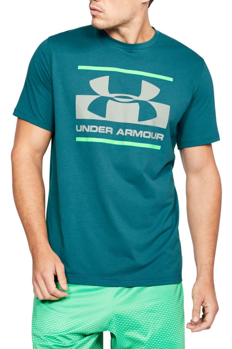 Under Armour Blocked Sportstyle Logo Short Sleeve Shirt Men T-Shirt 1305667-296