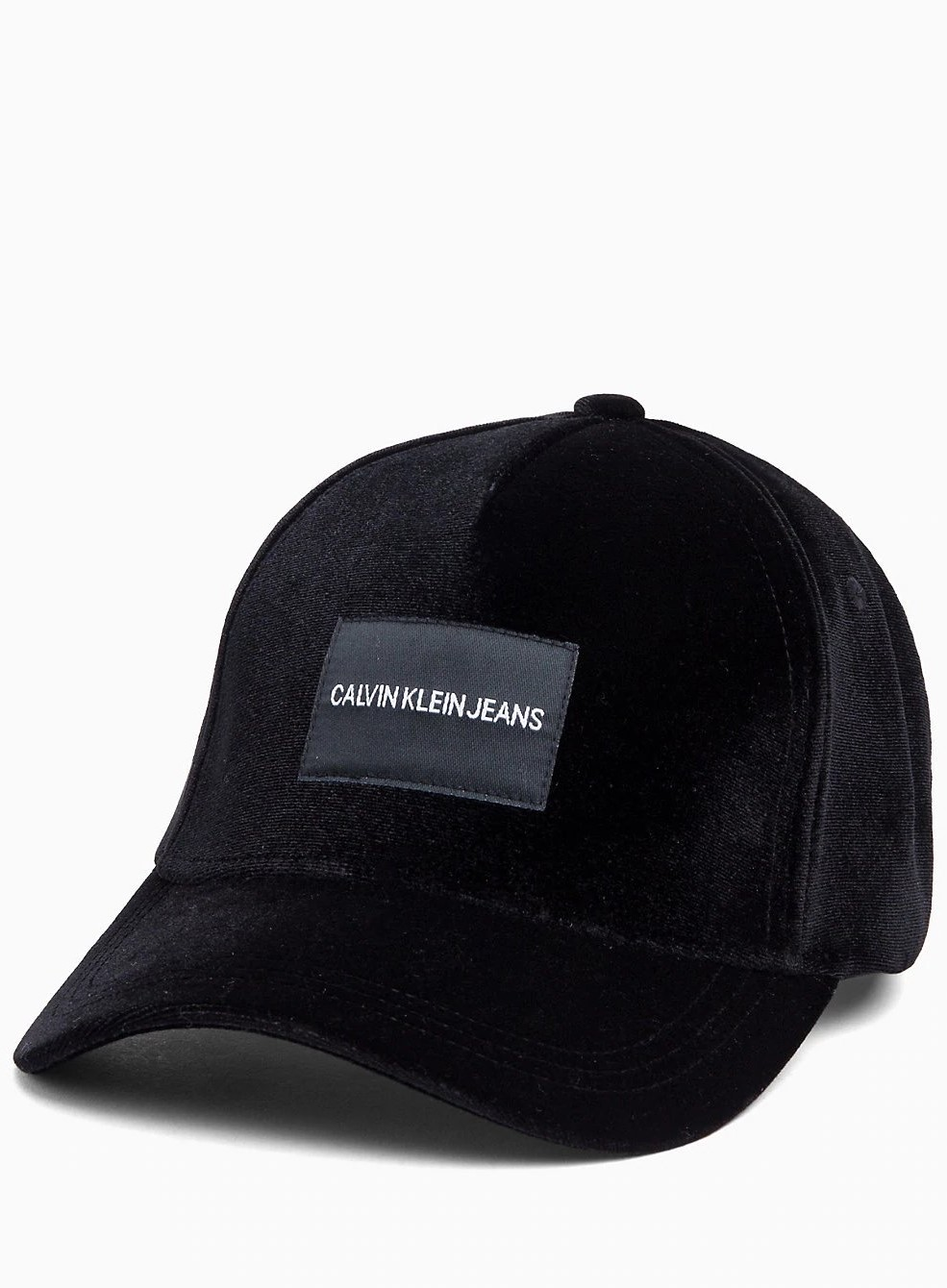 4ad6632640e Calvin Klein black cap J Velvet Cap with the logo - Caps