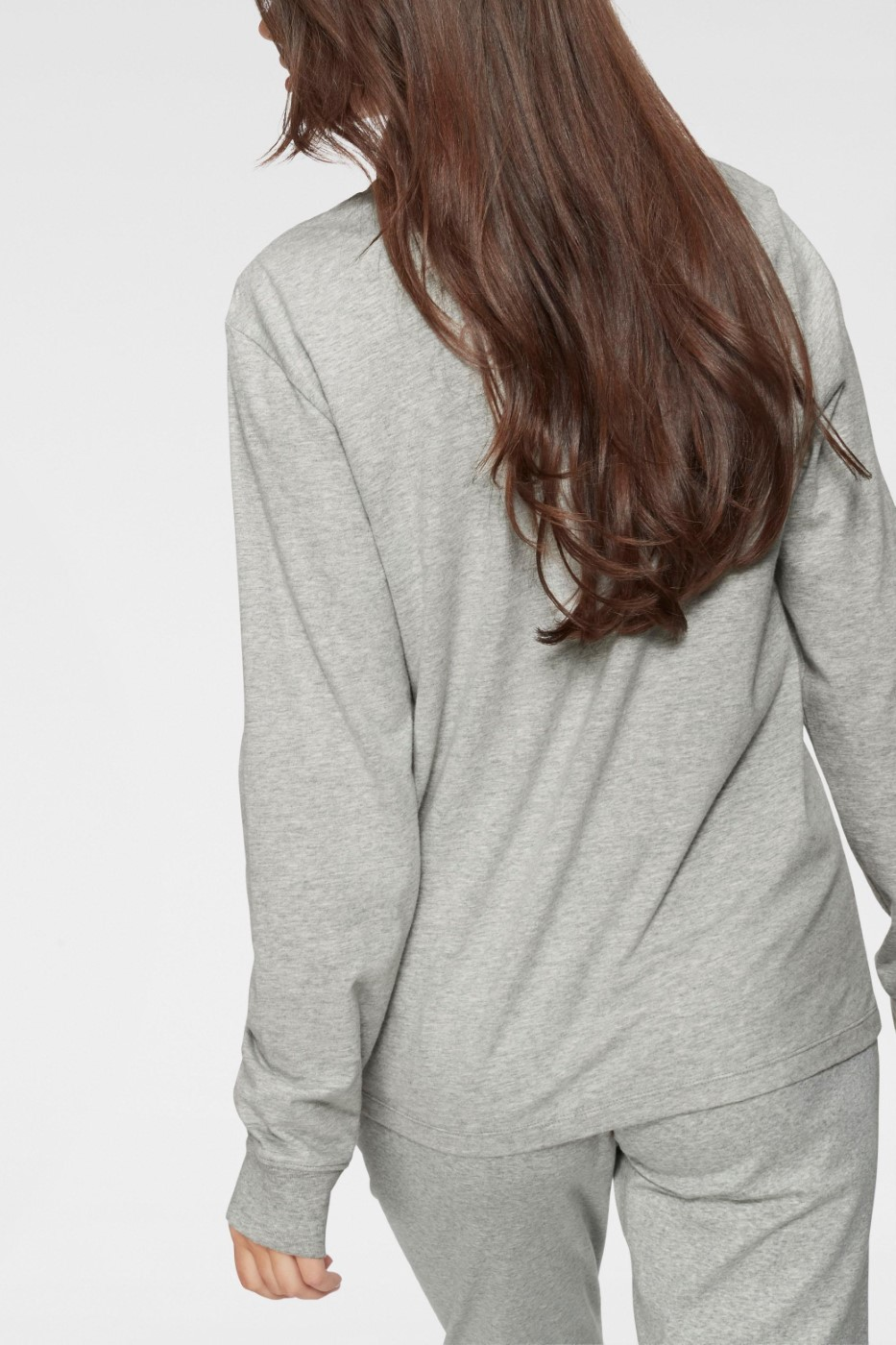 Calvin Klein grey women´s T-shirt L/S Crew Neck with logo